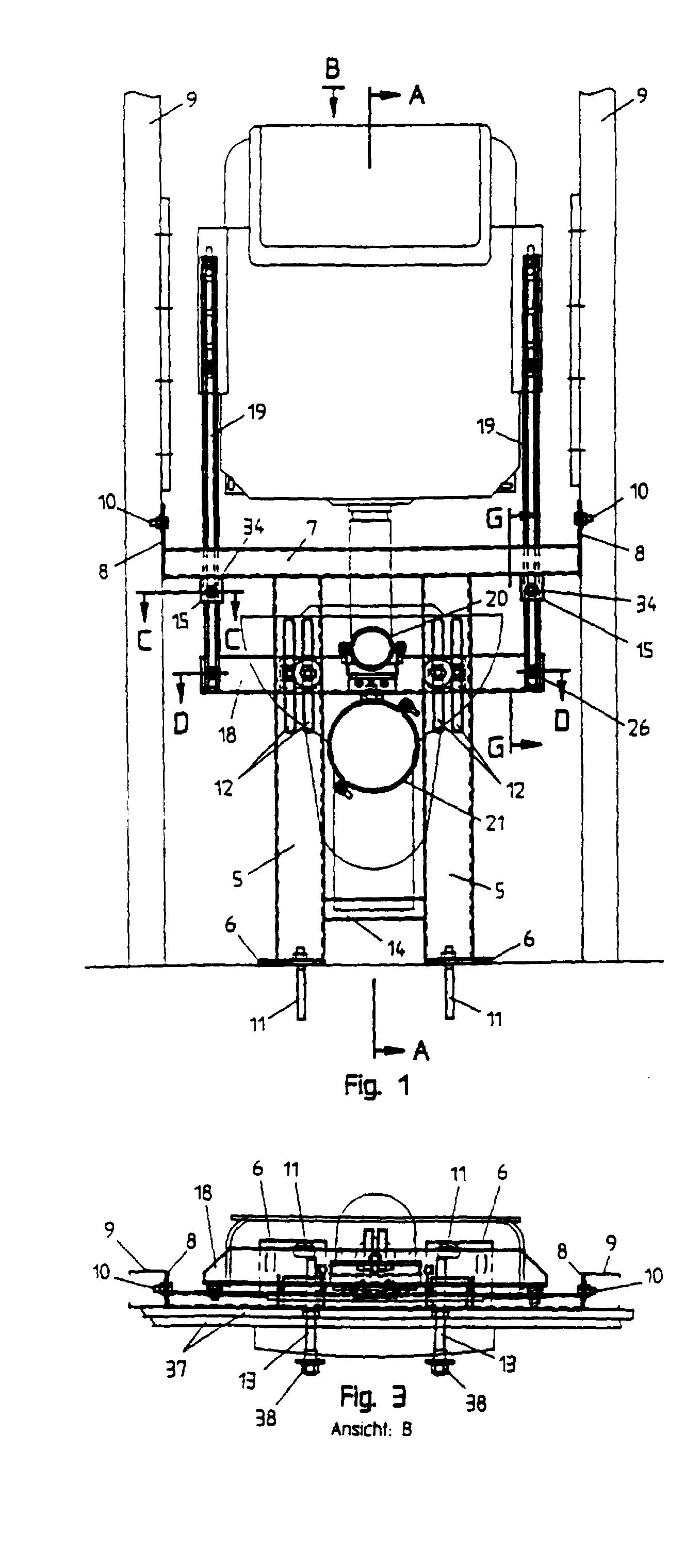patent ep0636750b1 - tragst u00e4nder f u00fcr eine sanit u00e4re einrichtung