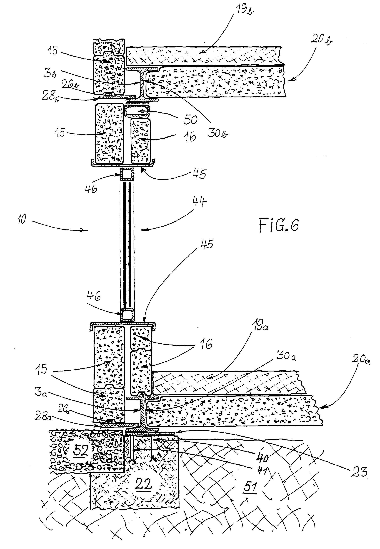 Eingangstür detail schnitt  Patent EP0639677B1 - Gebäude, bestehend aus Modulen vorgefertigter ...