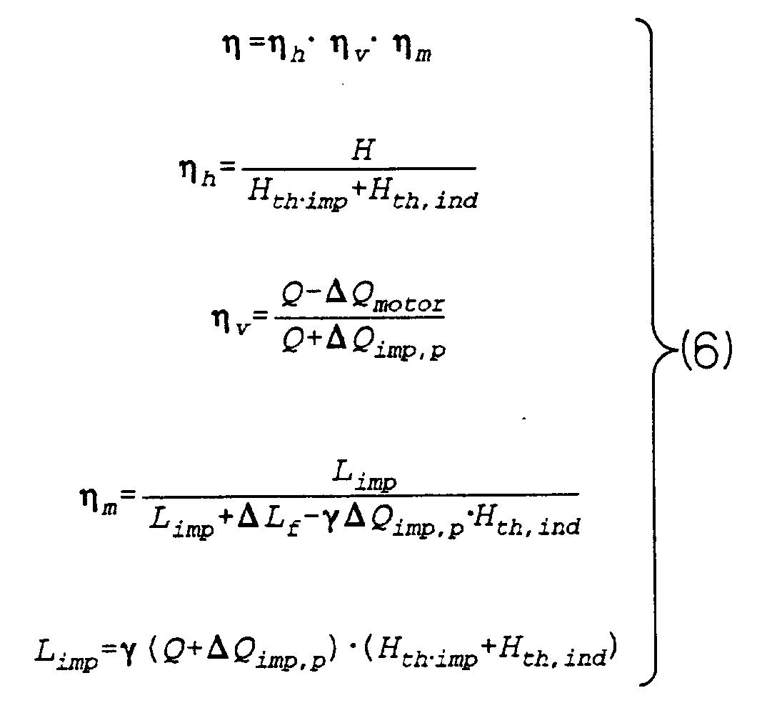 Force Flow Rate Equation: Pump: Pump Efficiency Equation