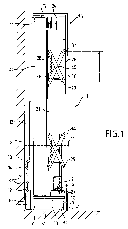 patent ep0648453a1 dispositif d 39 actionnement de la literie d 39 un lit escamotable google patents. Black Bedroom Furniture Sets. Home Design Ideas