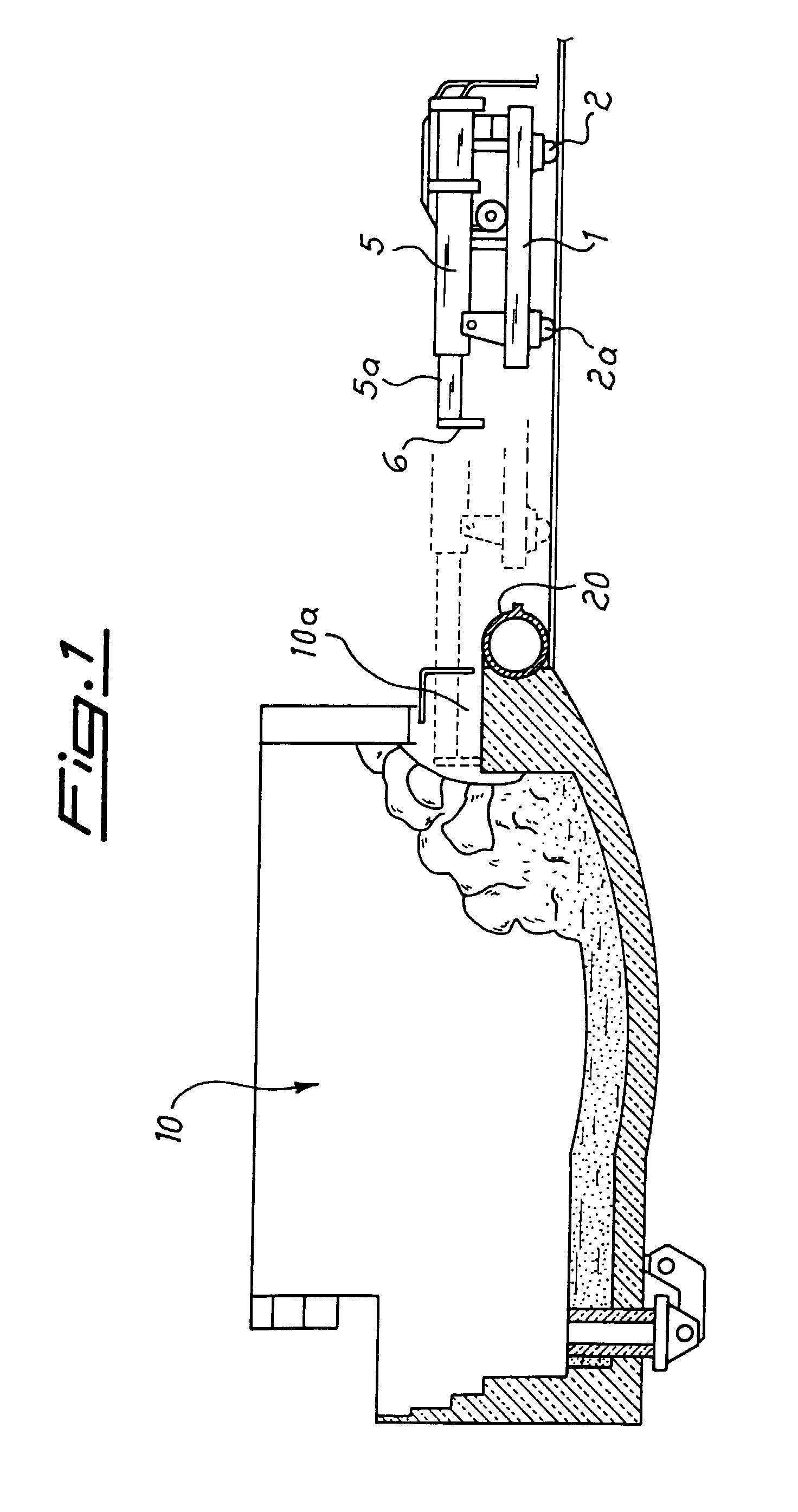 Slag Cross Section : Patent ep b pushing machine movable on rail for