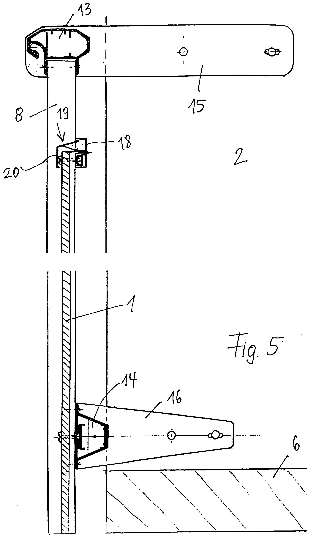Balkongeländer Befestigung Unterseite patent ep0666379a1 balkongeländer patents