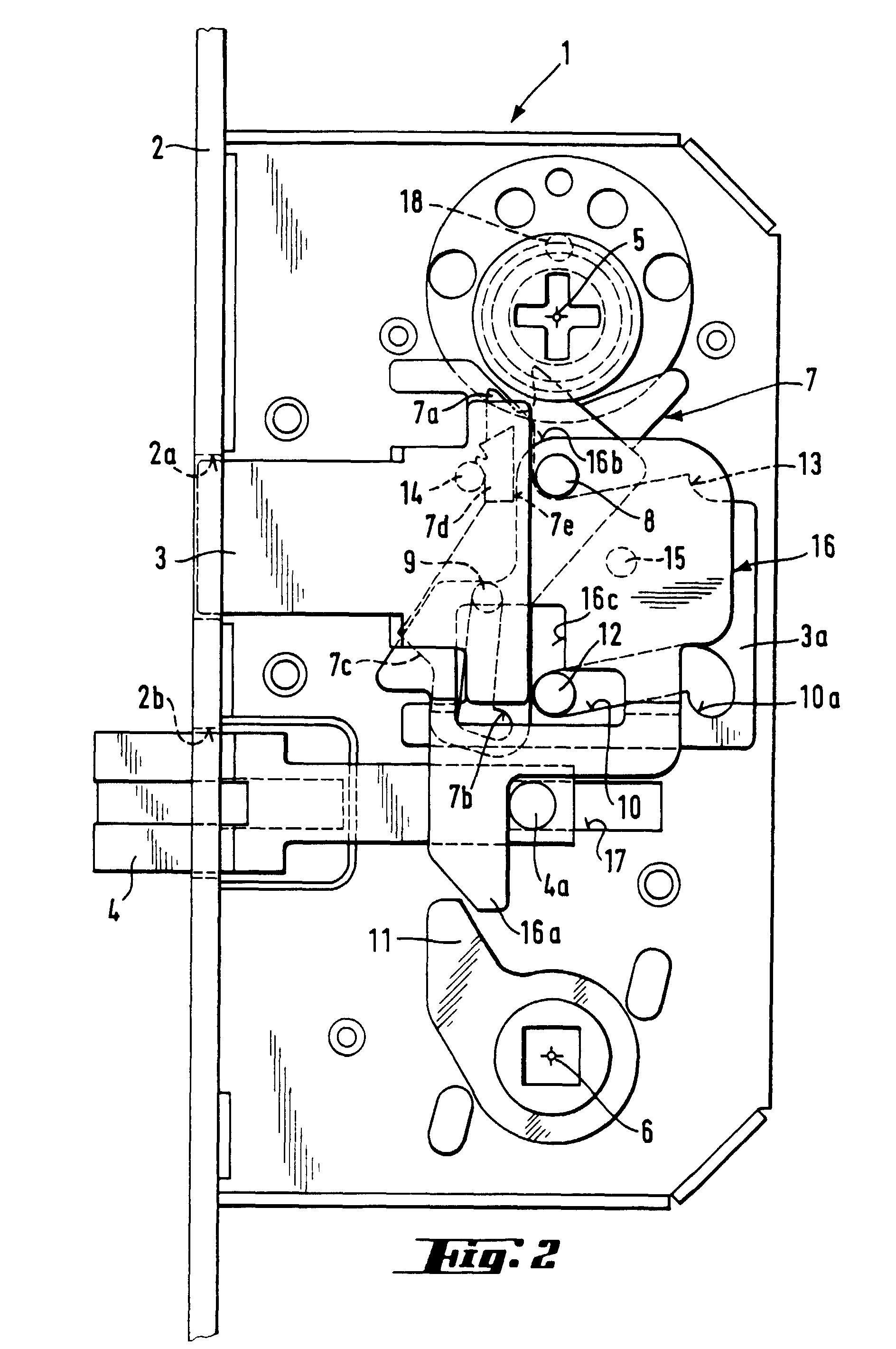 Patent ep0668424b1 serrure d 39 une porte clenche comportant un p ne dor - Comment demonter une serrure 3 points ...