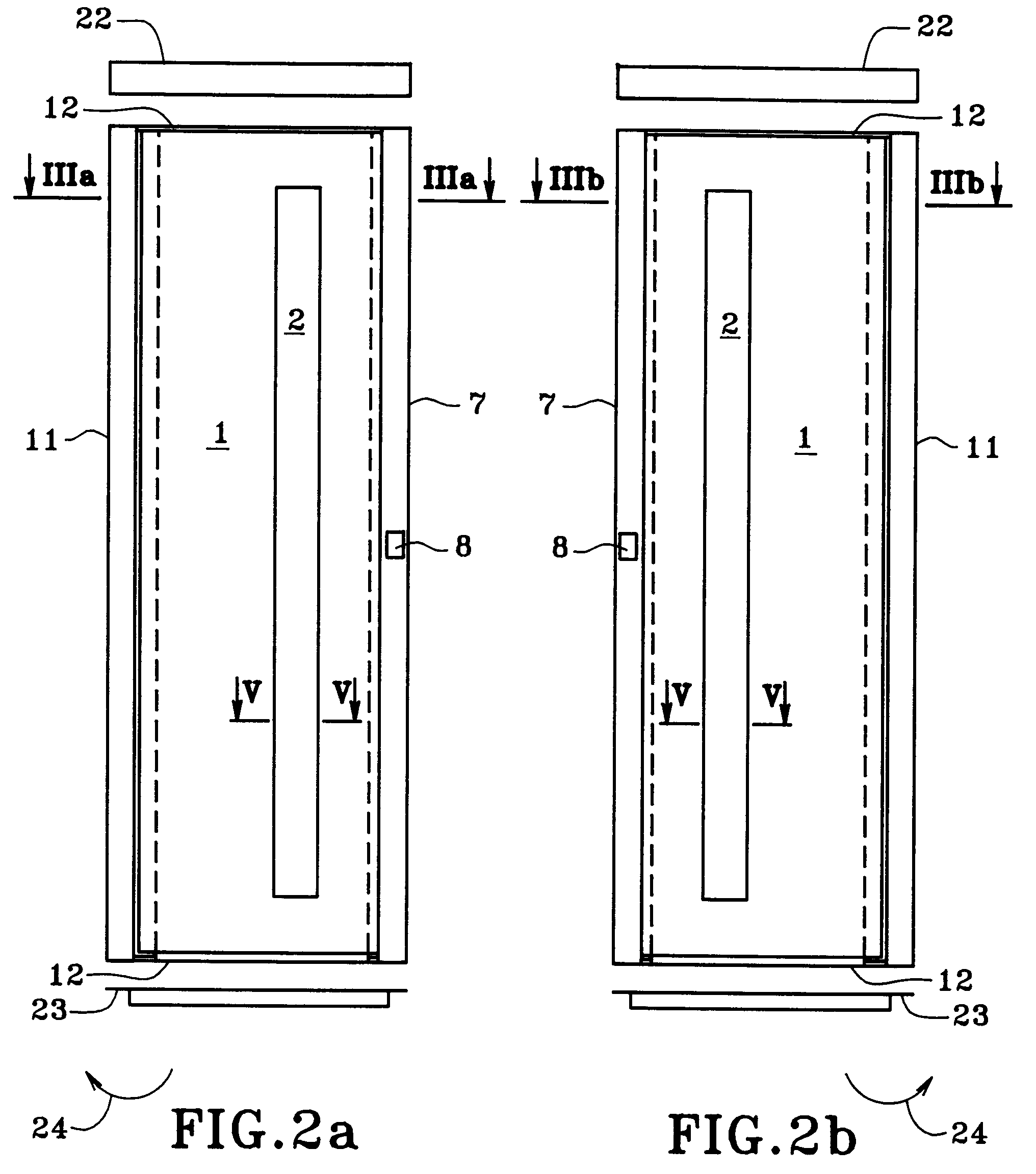 patent ep0684205a1 porte d 39 ascenseur et son proc d de. Black Bedroom Furniture Sets. Home Design Ideas