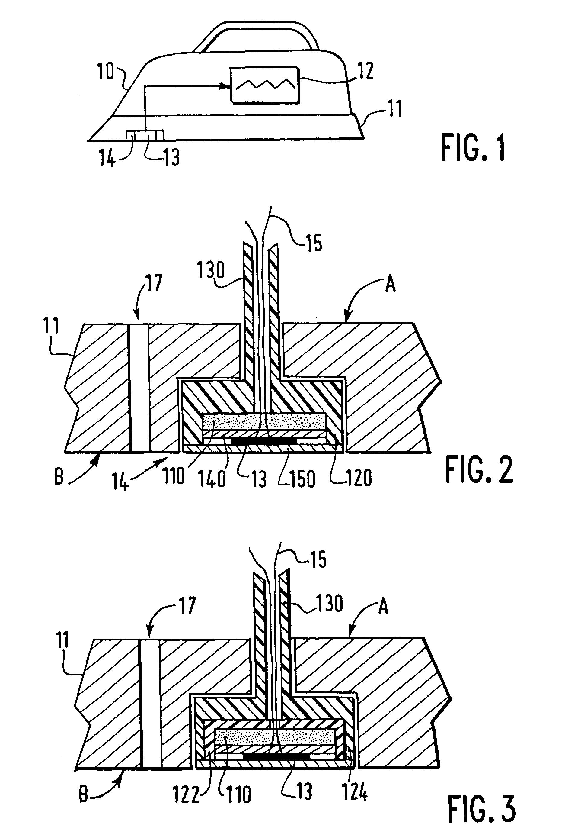 patent ep0719886b1 fer repasser muni d 39 un d tecteur. Black Bedroom Furniture Sets. Home Design Ideas