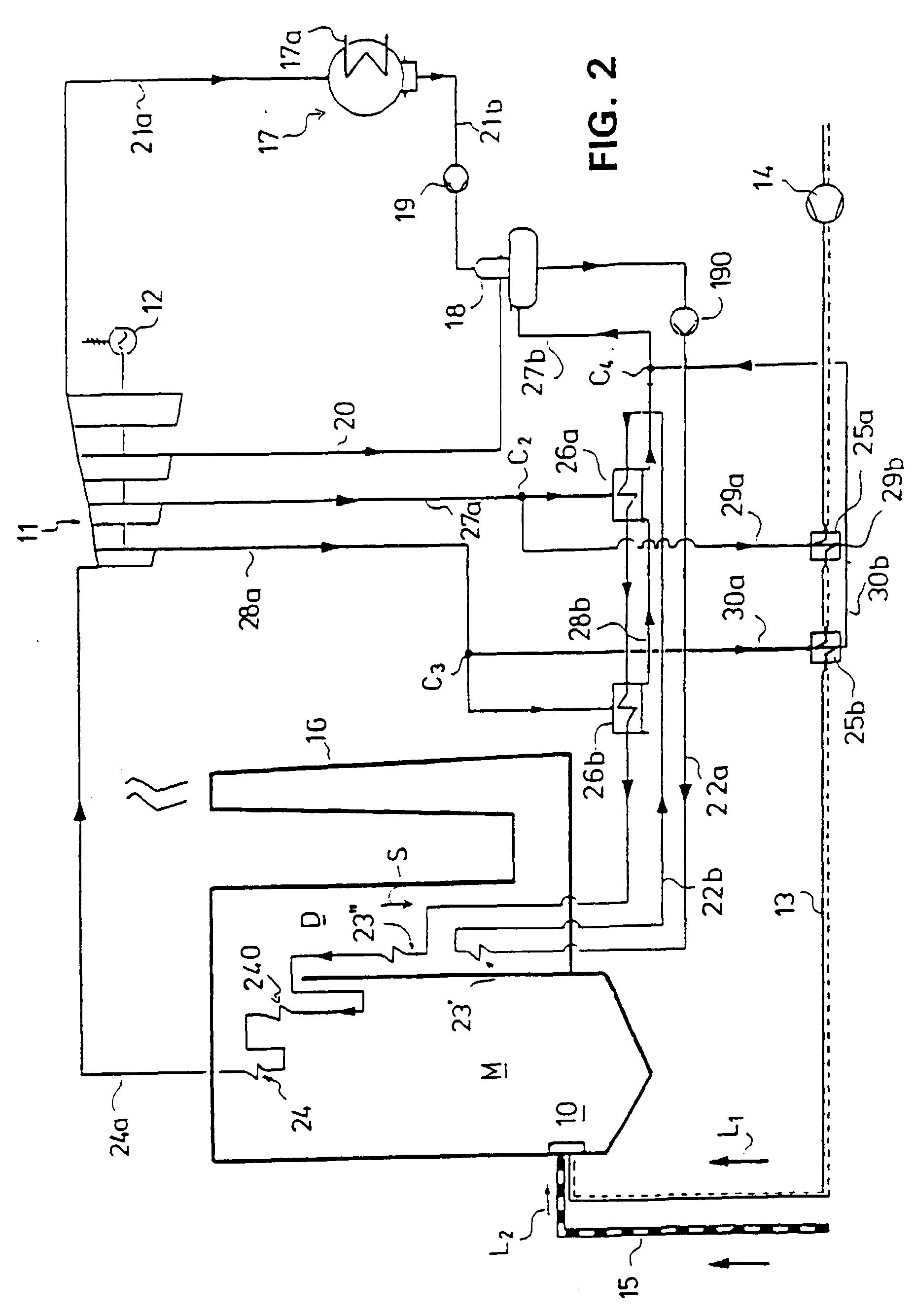Patent EP B1 Integration construction between a steam