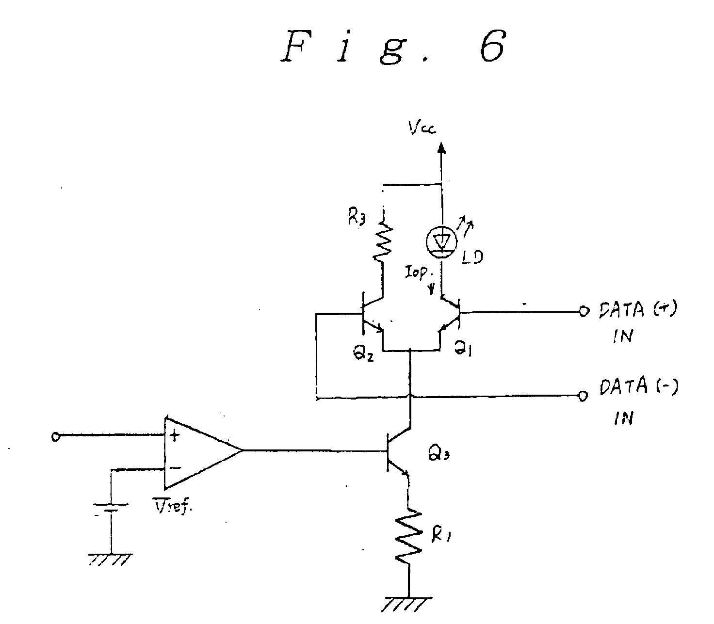 patent ep0756362a1 - voltage controlled laser diode drive circuit