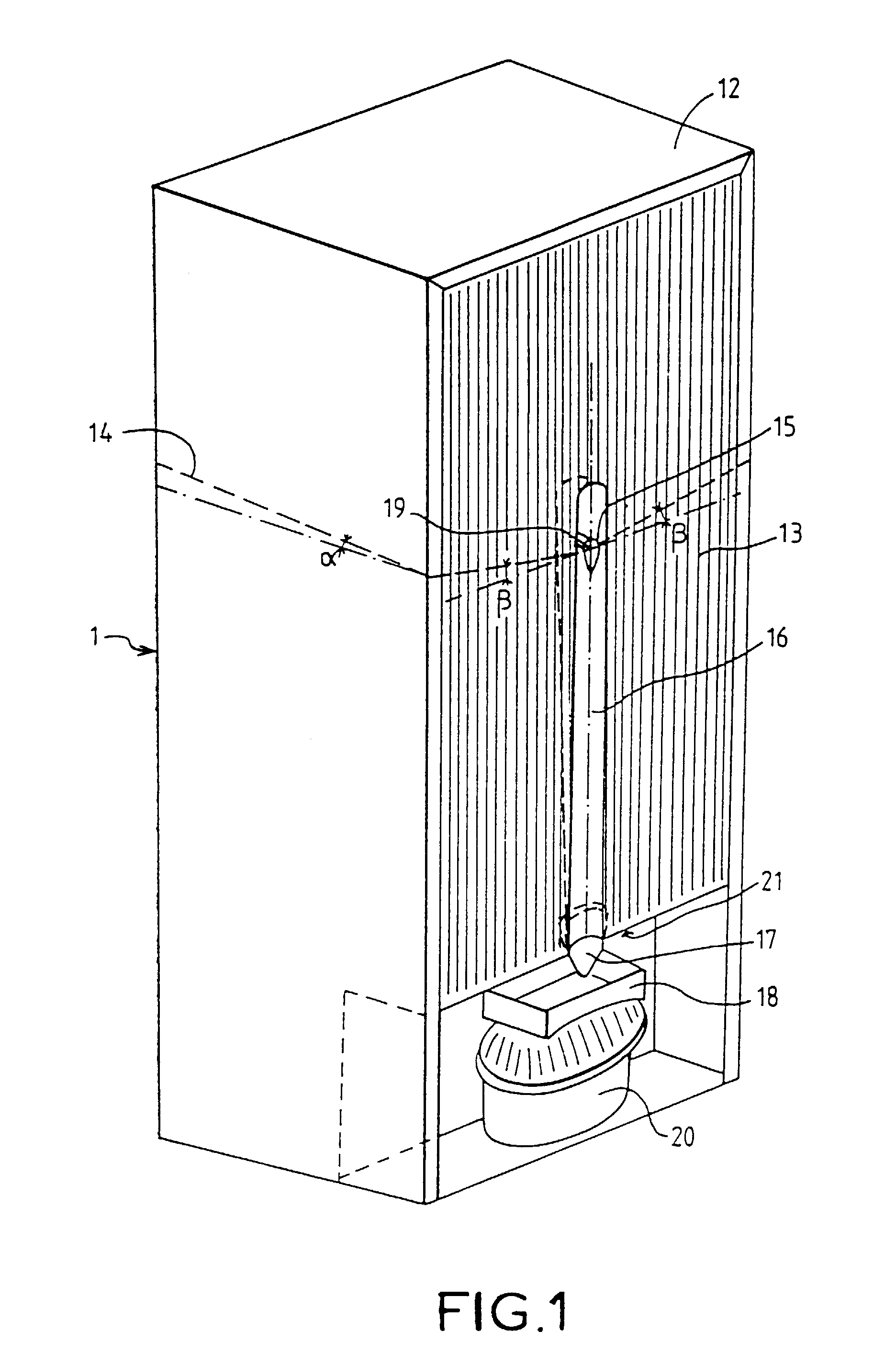 patent ep0775879b1 r frig rateur comportant un dispositif d 39 vacuation des eaux de d givrage. Black Bedroom Furniture Sets. Home Design Ideas