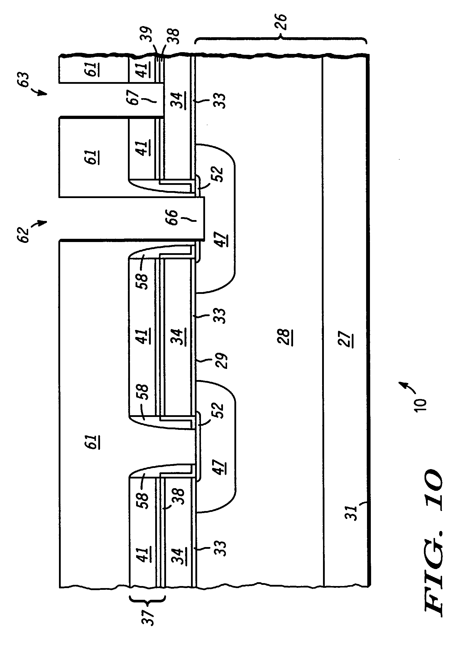 method of manufacturing vdmos with a termination structure