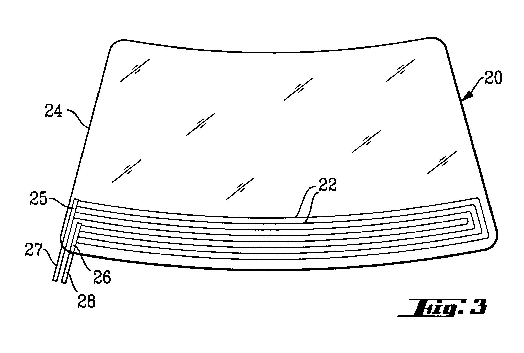 patent ep0800333a2 pare brise pouvant tre chauff lectriquement google patents. Black Bedroom Furniture Sets. Home Design Ideas