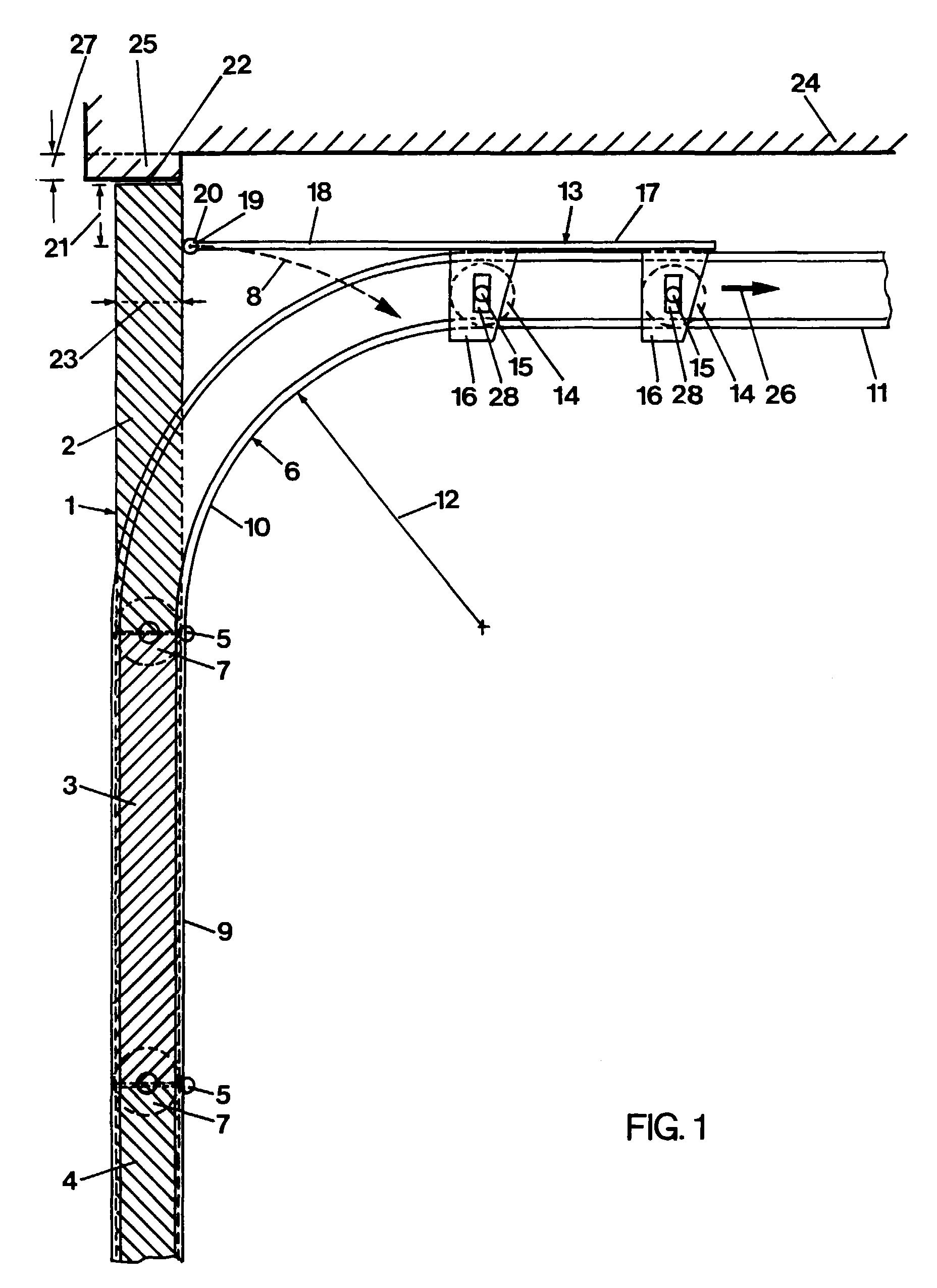 patent ep0801199a2 tor insbesondere sektionaltor mit. Black Bedroom Furniture Sets. Home Design Ideas