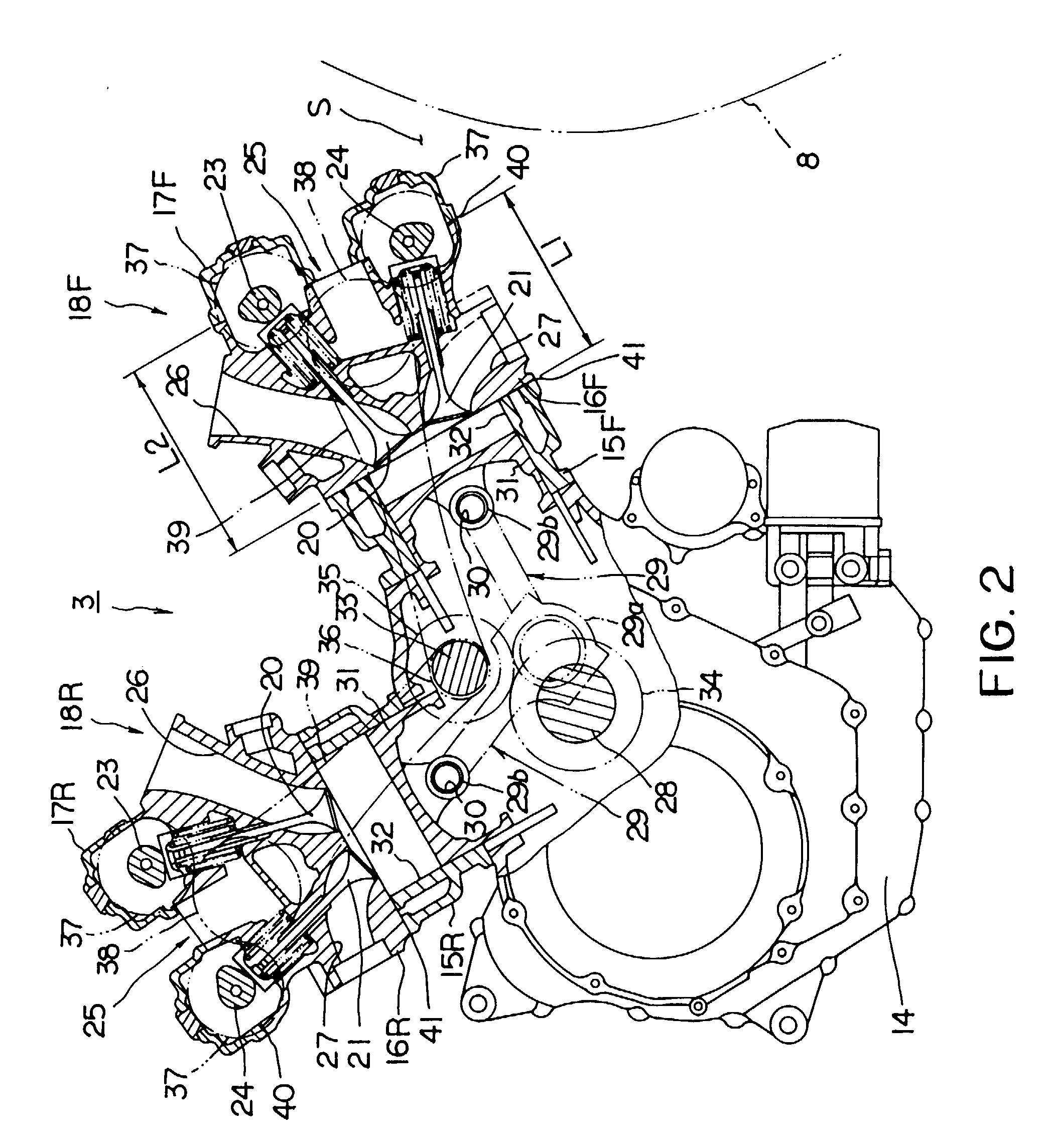 Types Of Motorcycle Engines: Four-stroke-cycle V-type Engine Of