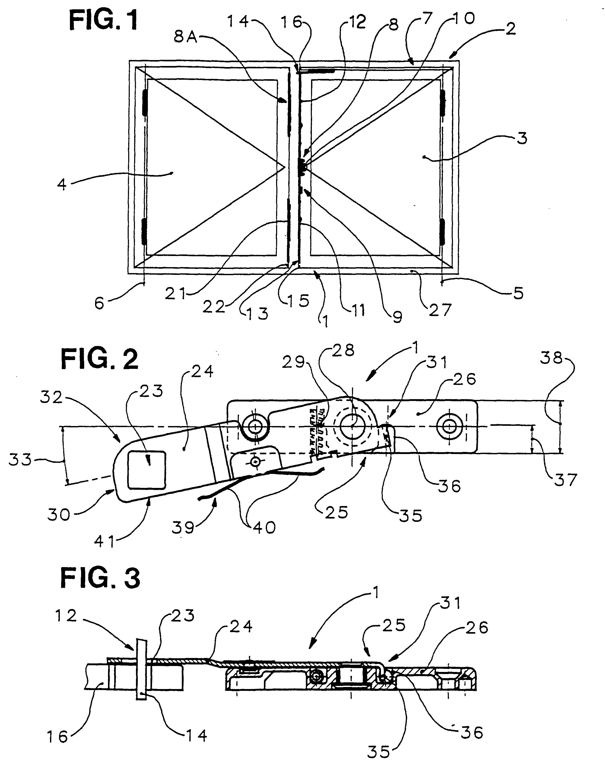 patent ep0805250b1 entreb illeur pour fen tre porte