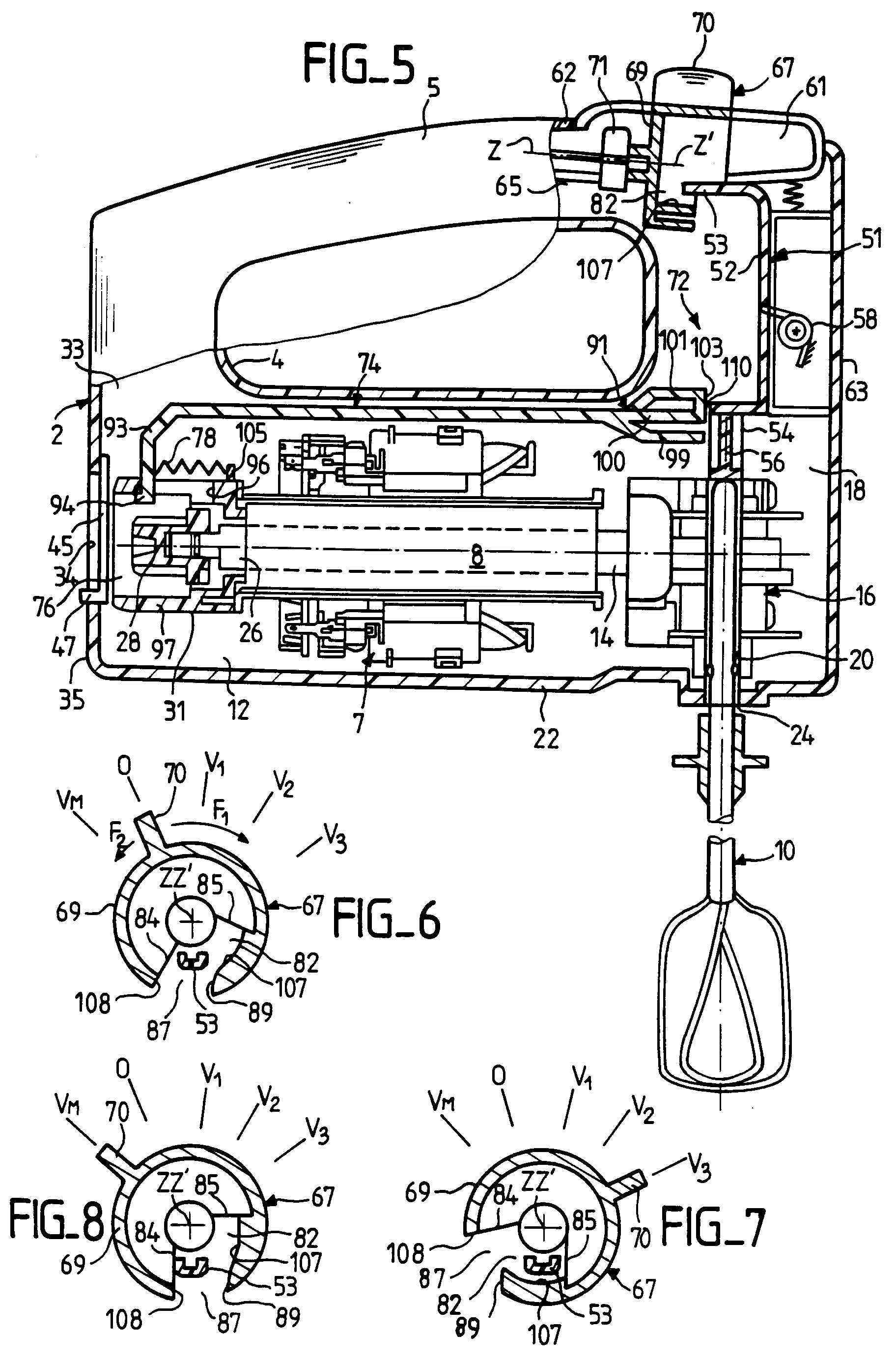 Drawing Hand Mixer ~ Patent ep b hand held electric mixer google patents