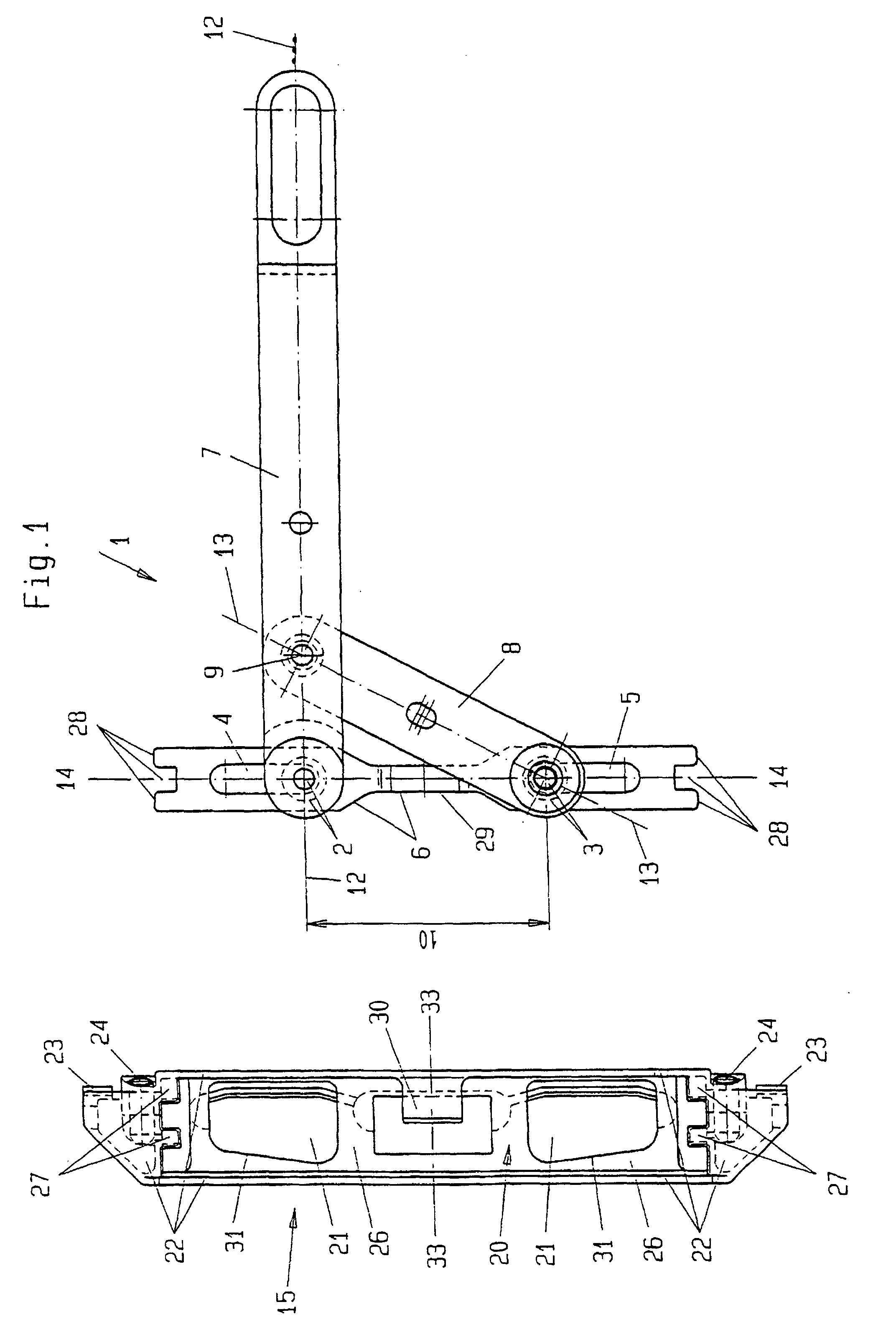 patent ep0823522b1 falz hebelgetriebe f r fenster oder t ren google patents. Black Bedroom Furniture Sets. Home Design Ideas