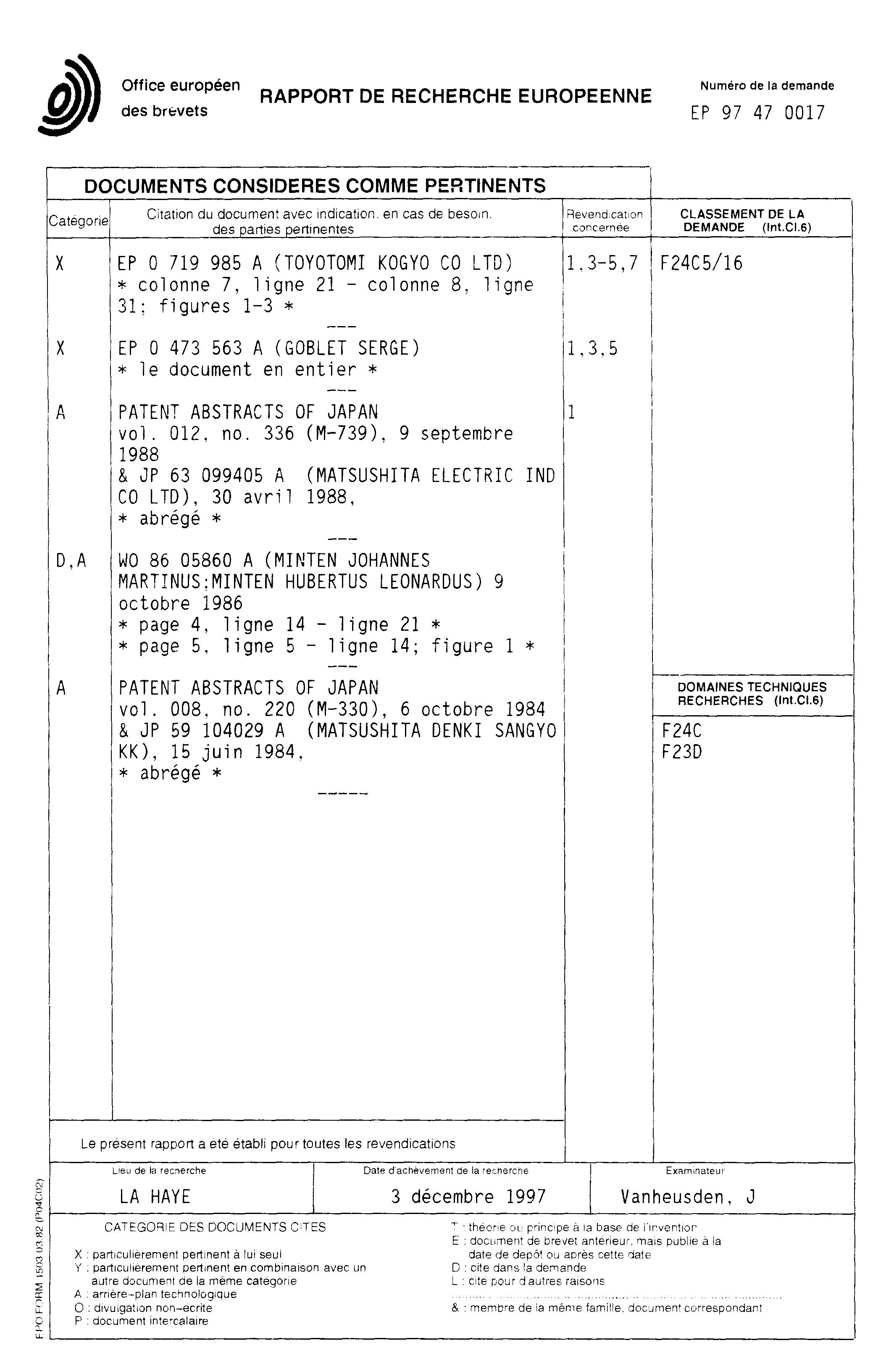 patent ep0824208a1 convecteur radiant p trole m che associ un thermostat google patents. Black Bedroom Furniture Sets. Home Design Ideas