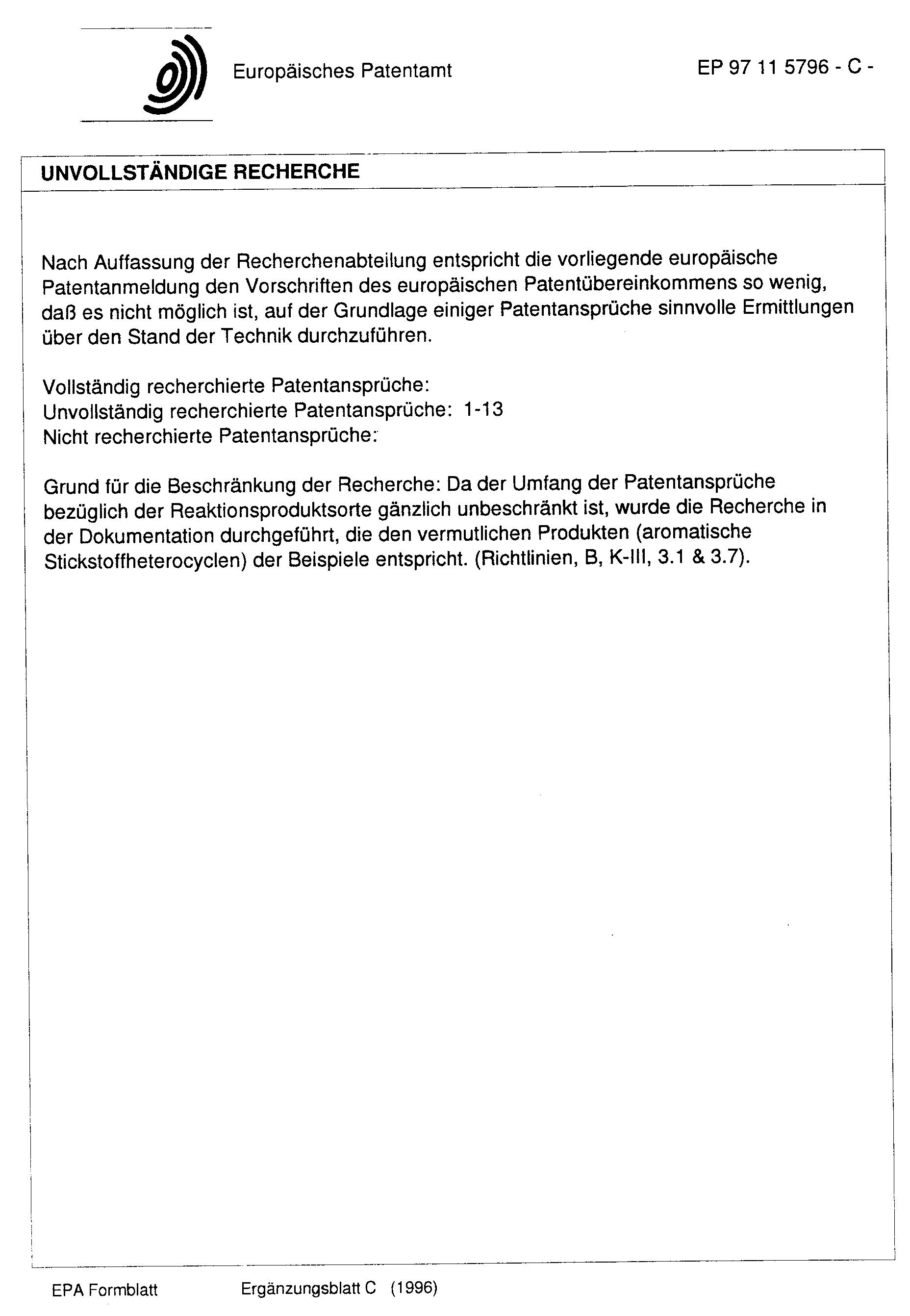 Patentansprüche | Patente Ep0829460a1 Verfahren Zur Herstellung Von