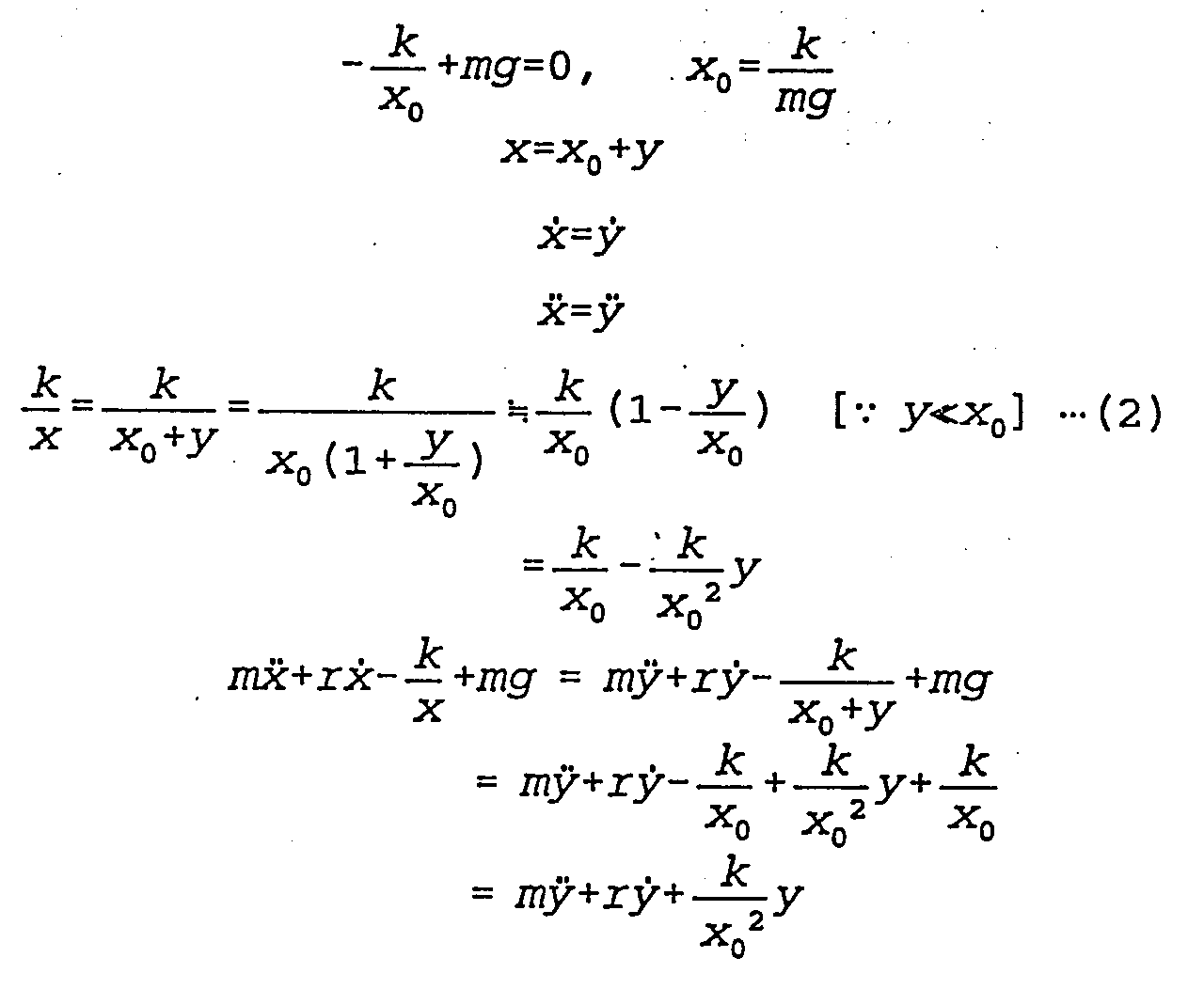 relationship between frequency mass and spring constant equation