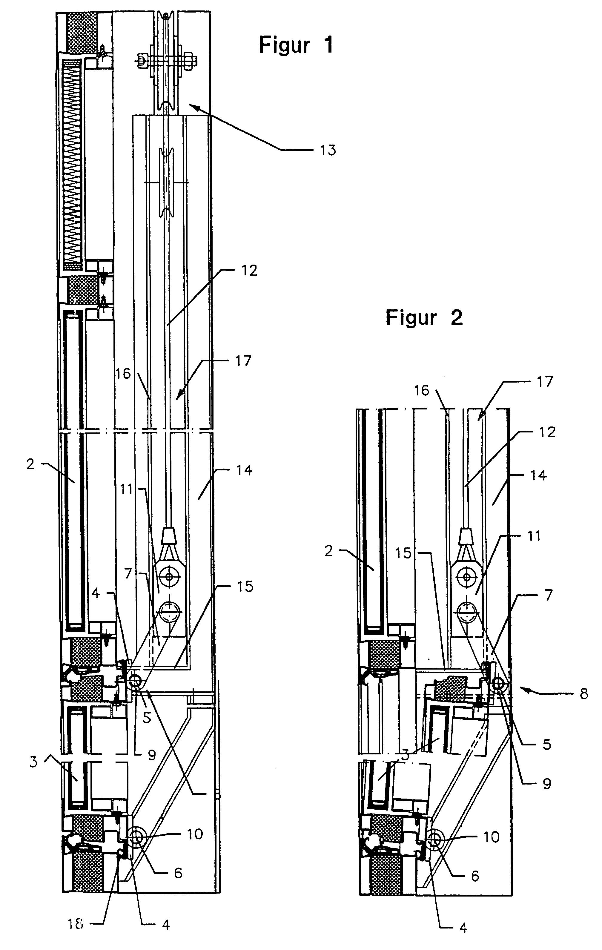Patent ep0851083b1 vertikalschiebefenster google patents for Schiebefenster horizontal