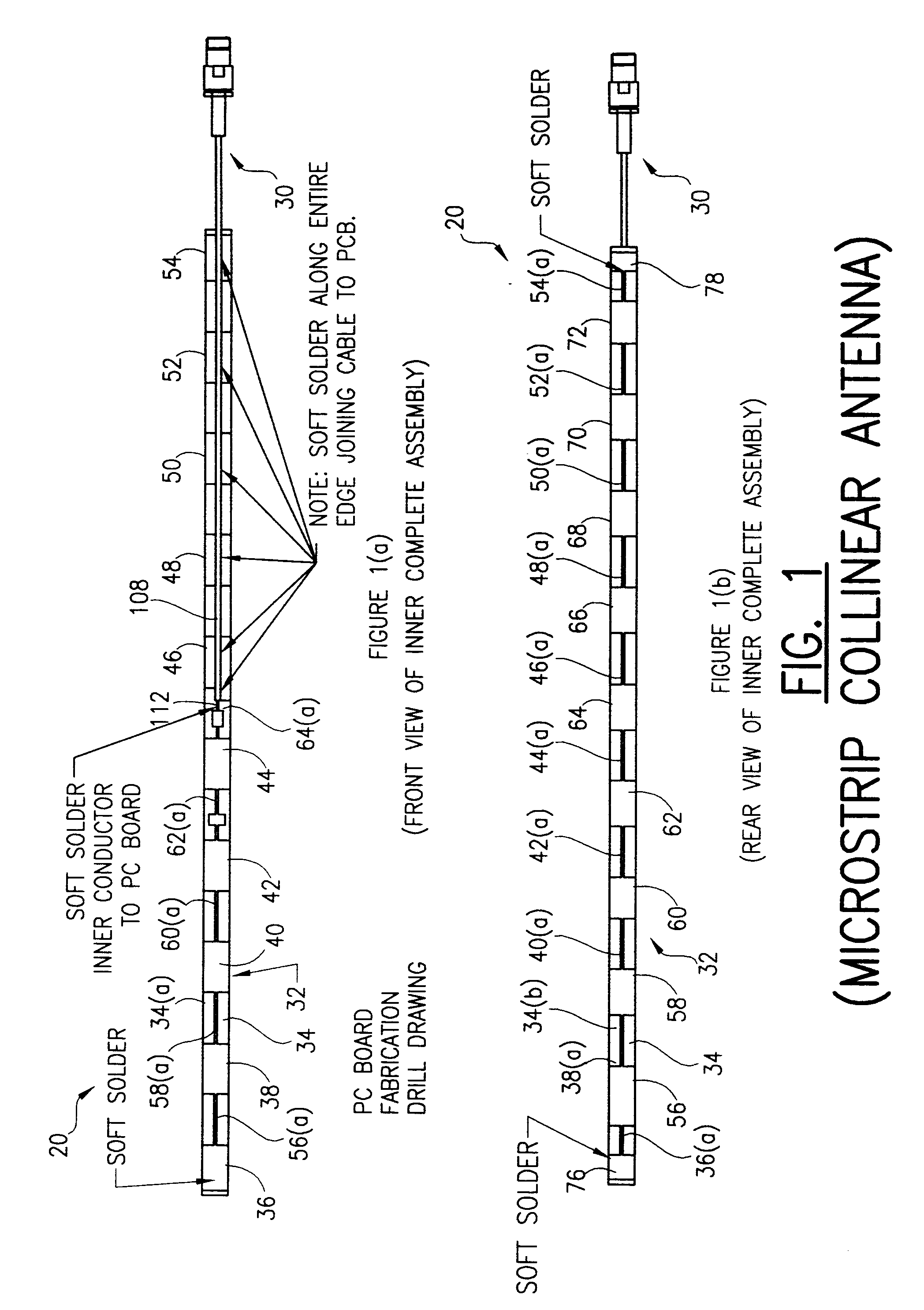 patent ep0855760a2 - microstrip collinear antenna