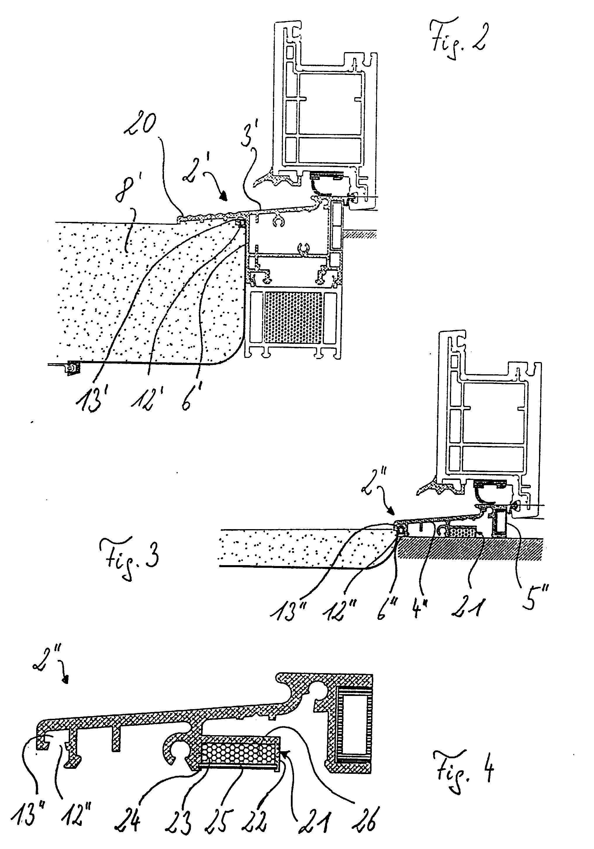 patent ep0867589a2 unterer abschluss von t ren und fenstern google patents. Black Bedroom Furniture Sets. Home Design Ideas
