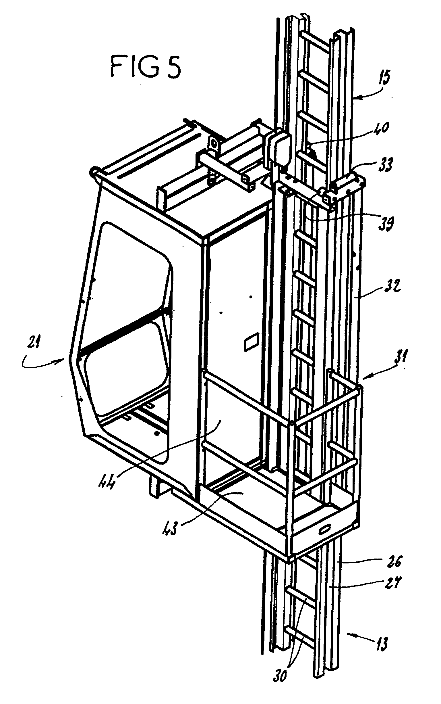 Tower Crane Inventor : Patent ep b tower crane with a telescopic ladder