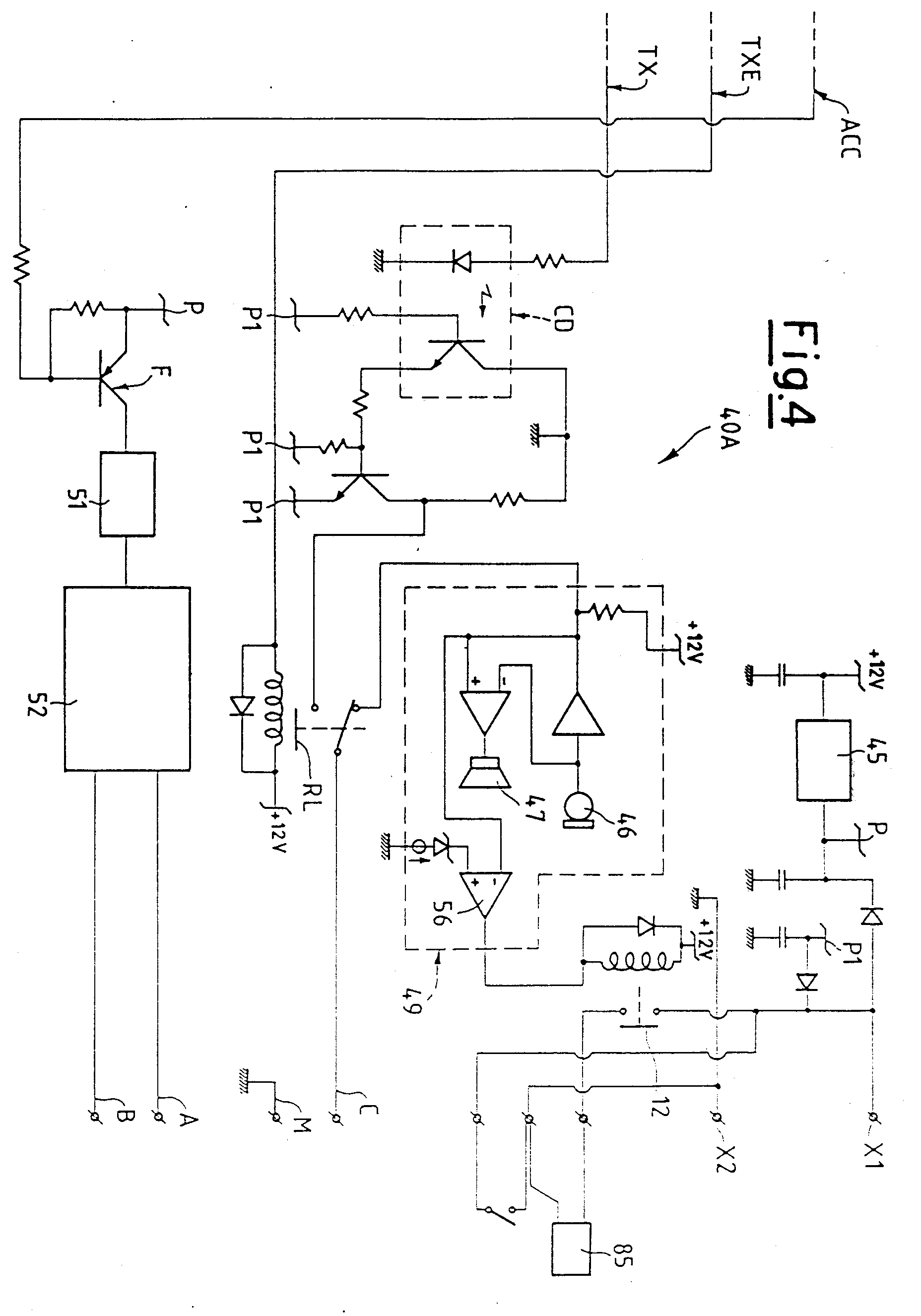 00130001 patent ep0876044a2 electric connection system for intercom and bitron video intercom wiring diagram at gsmx.co