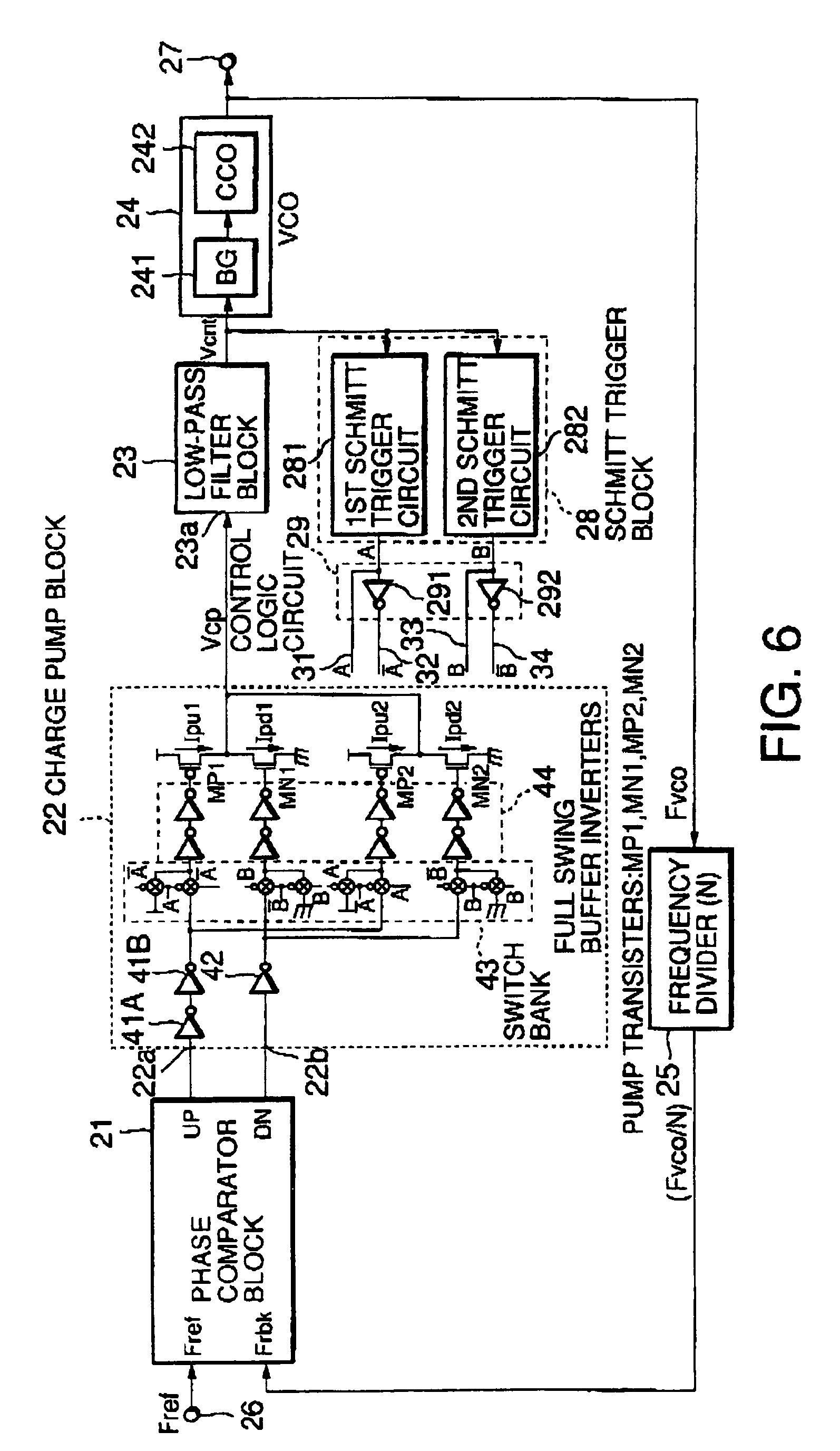 patent ep0881774b1 - phase locked loop using a schmitt trigger block
