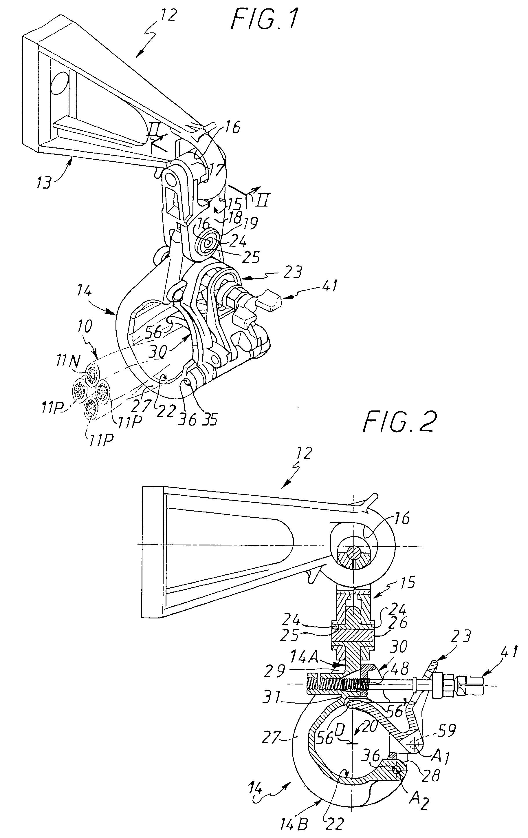 patent ep0889568a1 pince de suspension notamment pour ligne lectrique a rienne et. Black Bedroom Furniture Sets. Home Design Ideas