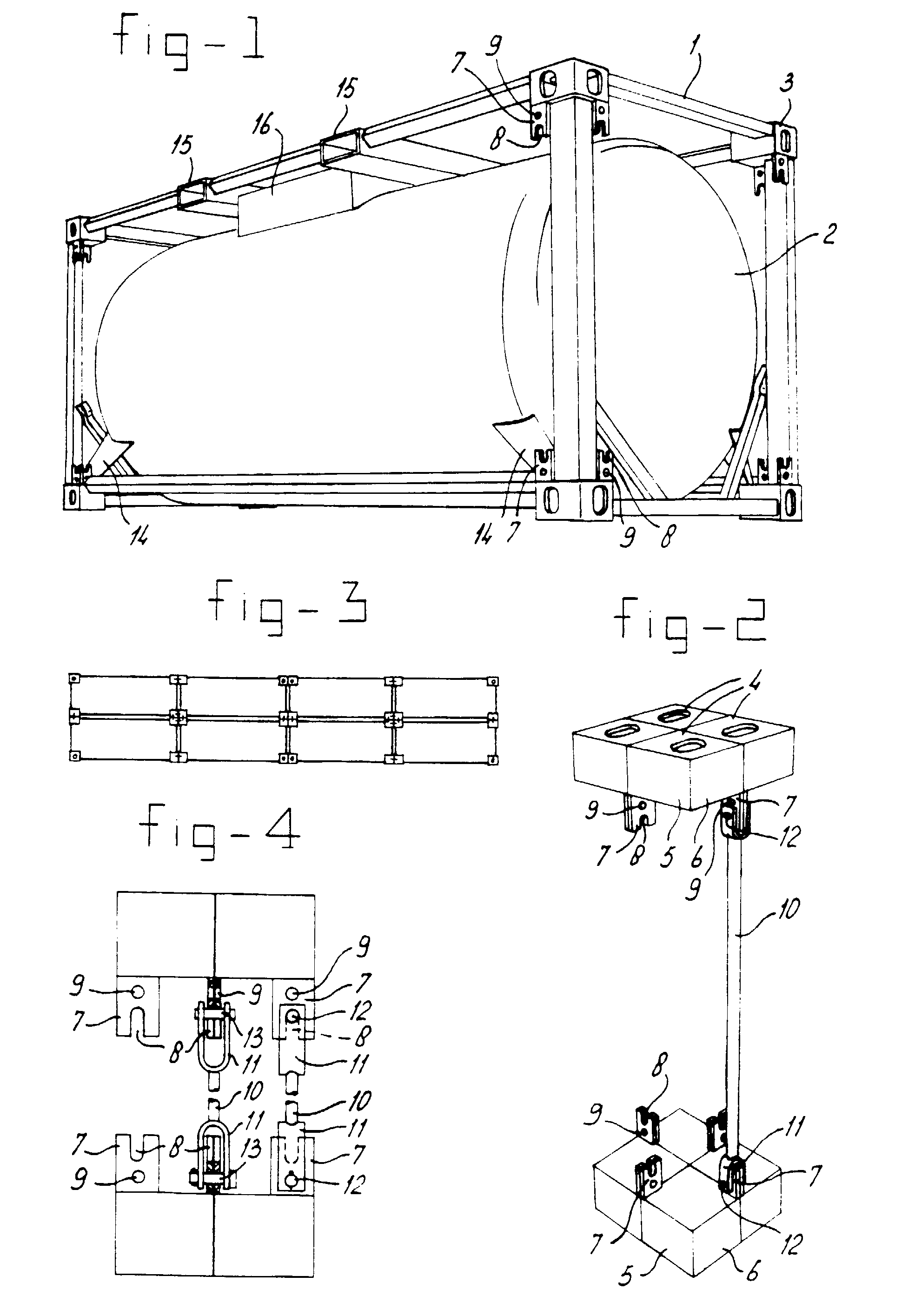 Patent EP0892749B1 - Cluster made up of a number of tank containers ...