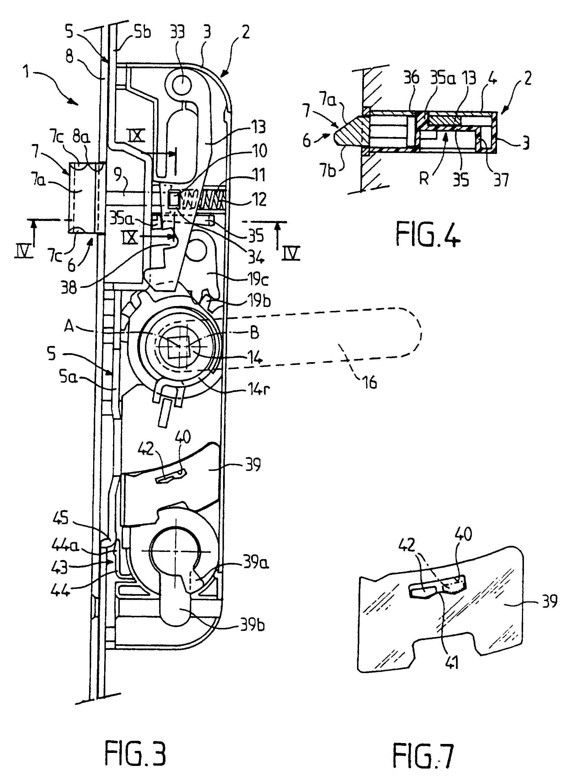 Patent ep0894928b1 dispositif de fermeture en - Schema serrure de porte ...