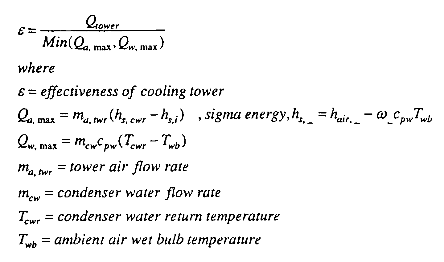 water flow by determining the coolingtower effectiveness by using the #313131