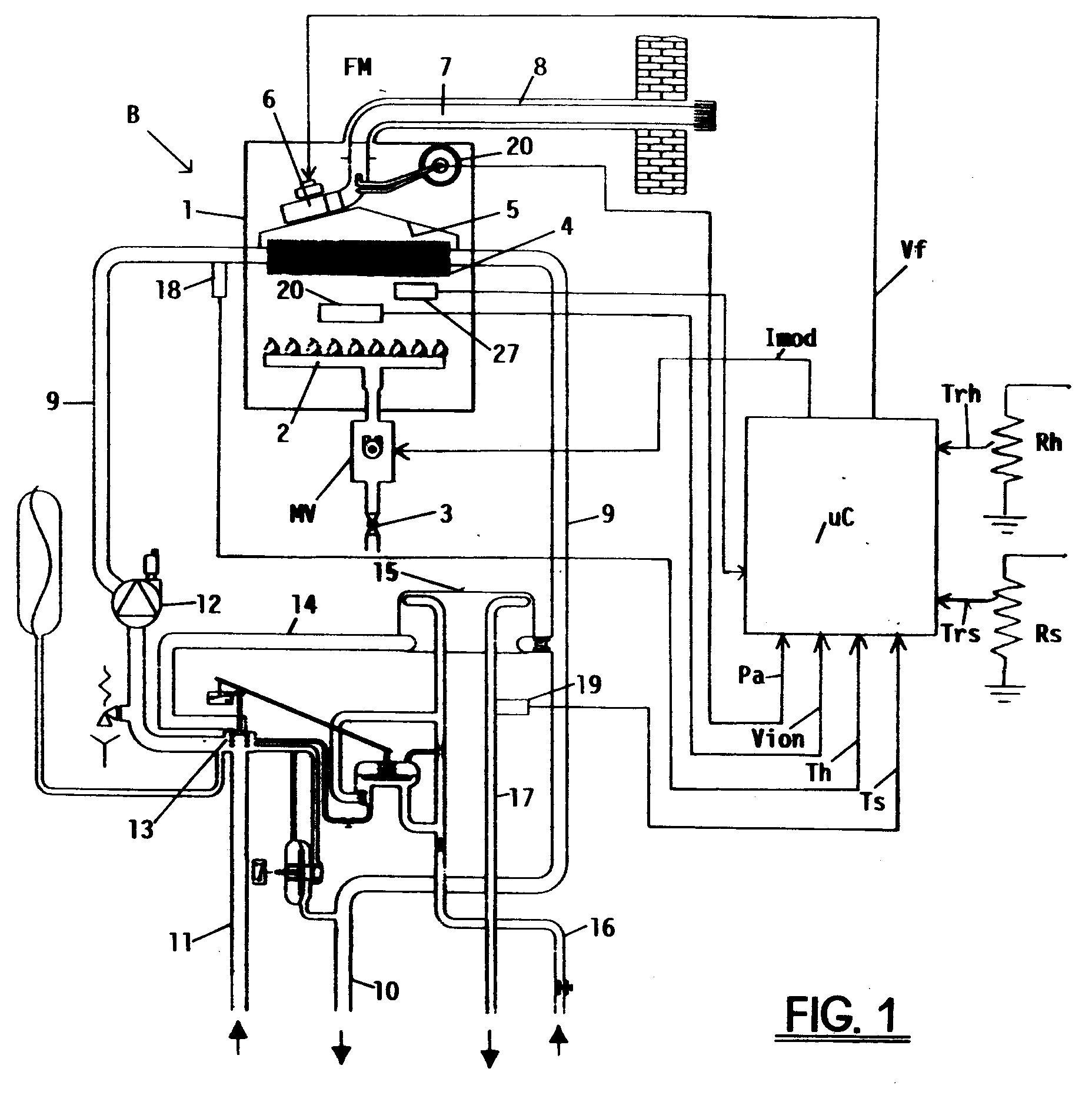 Patent EP0909922A1 Combined gas air control system for controlling  #272727