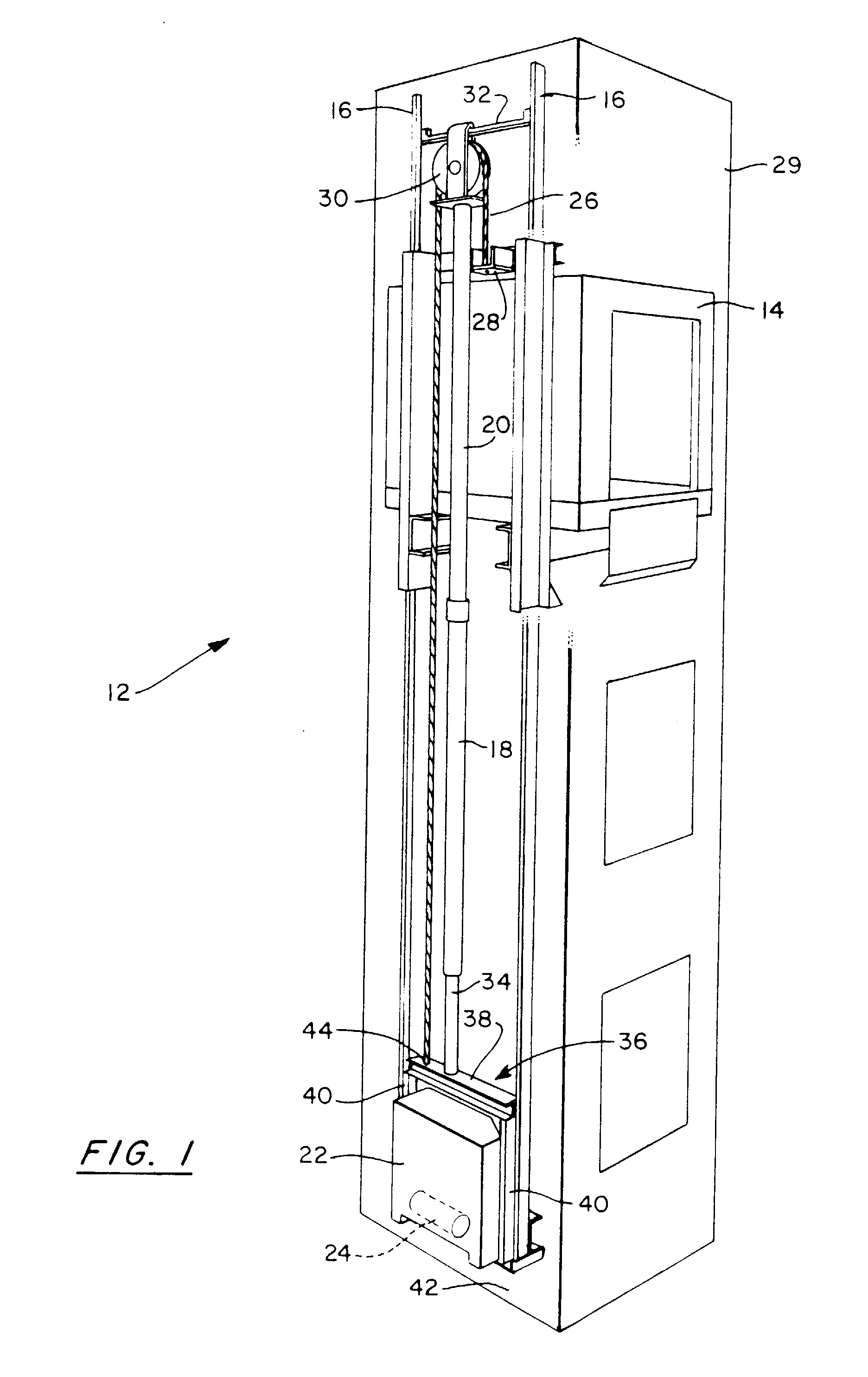 Elevator Hydraulic Cylinder : Patent ep a hydraulic elevator without
