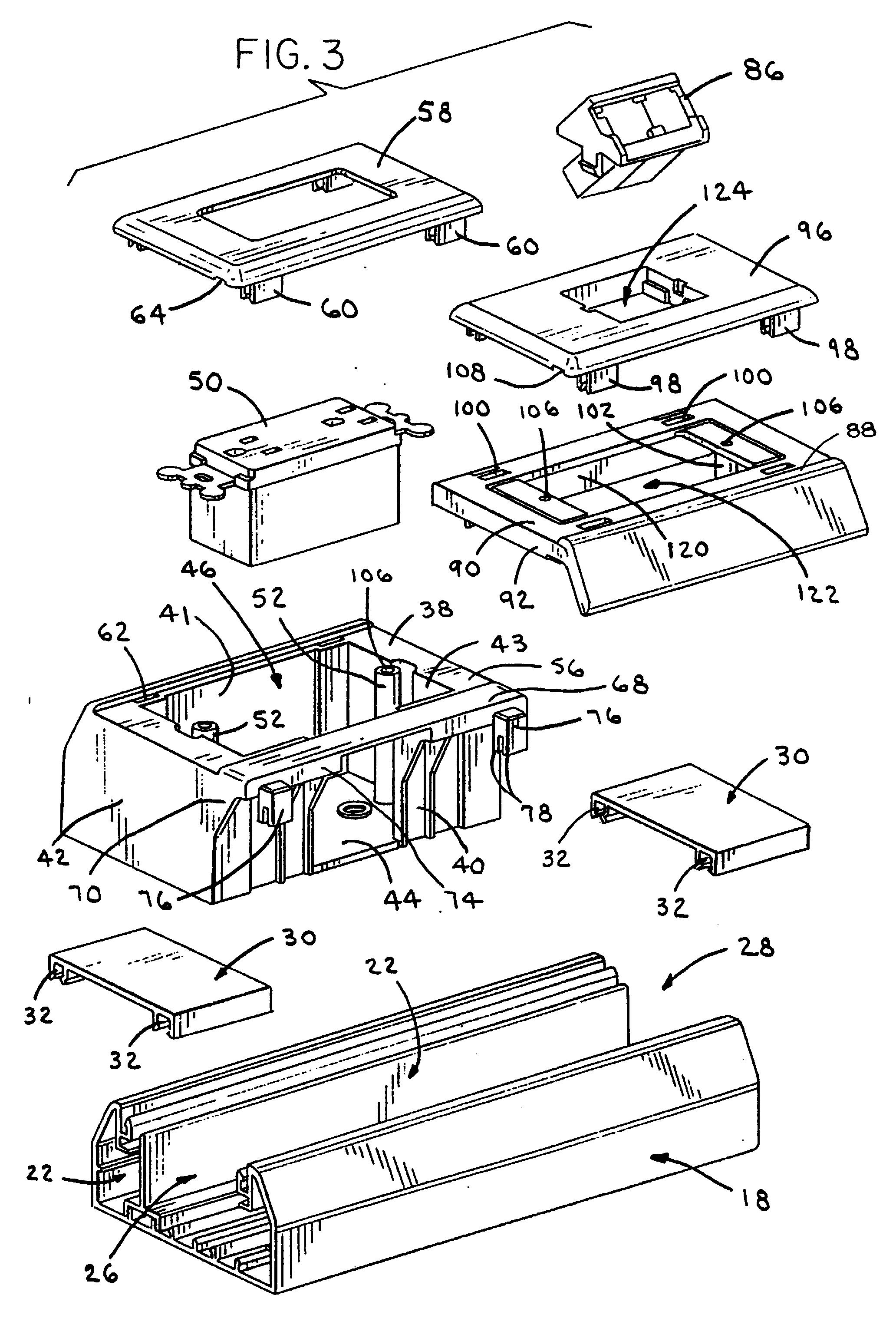 patent ep0929138a1 - raceway outlet station