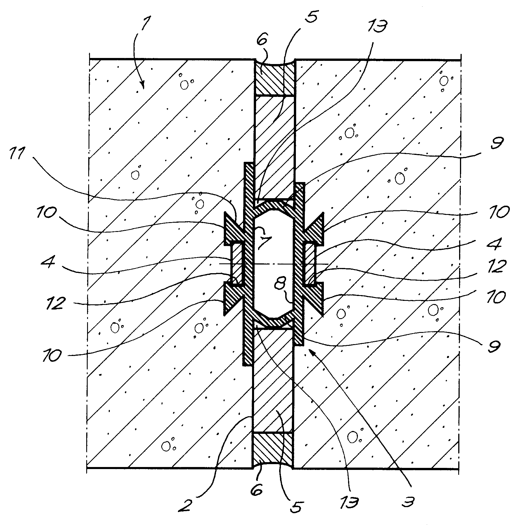 expansion joint concrete wall. patent drawing expansion joint concrete wall