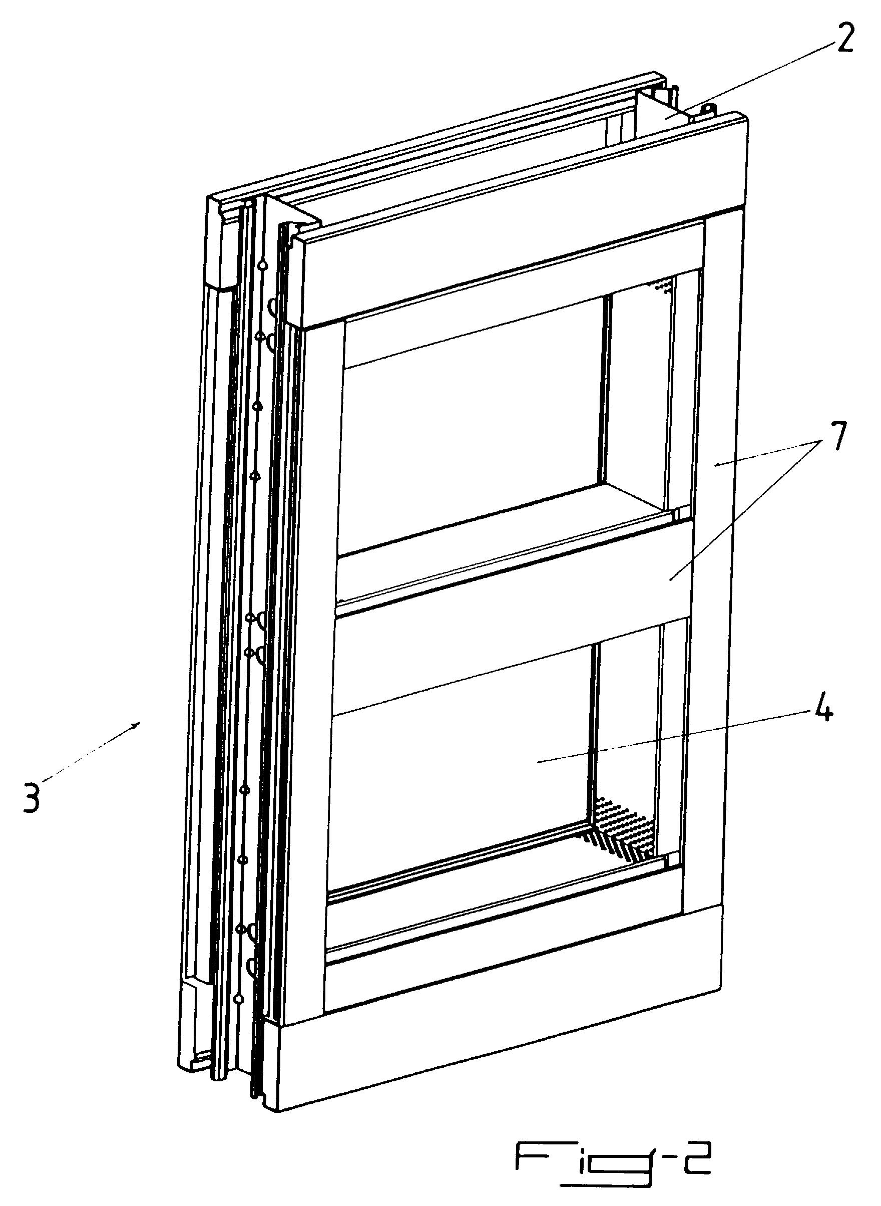 patent ep0937857a1 cloison coupe feu comportant des. Black Bedroom Furniture Sets. Home Design Ideas