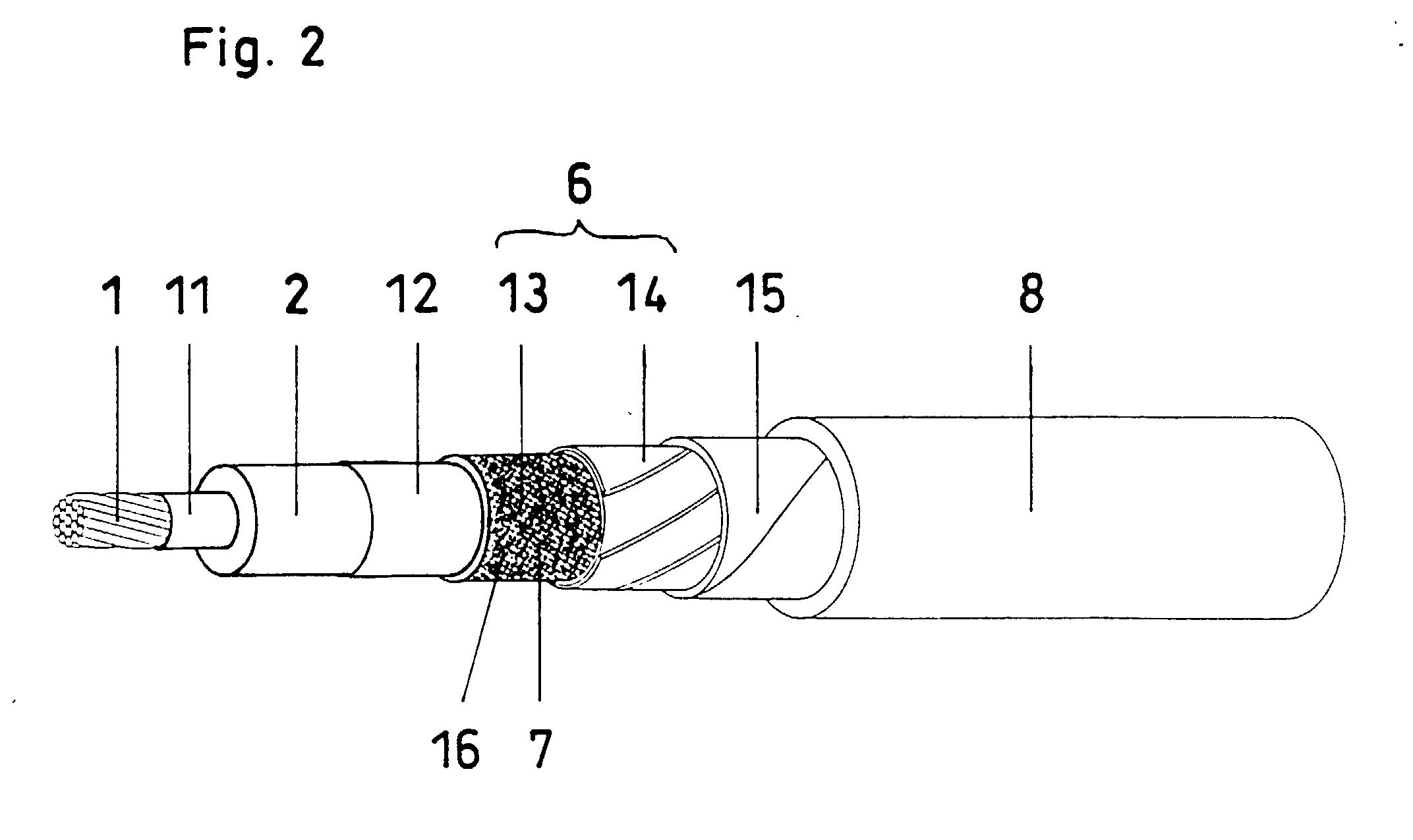Patent EP0938101A2 - Elektrische Leitung oder elektrisches Kabel ...