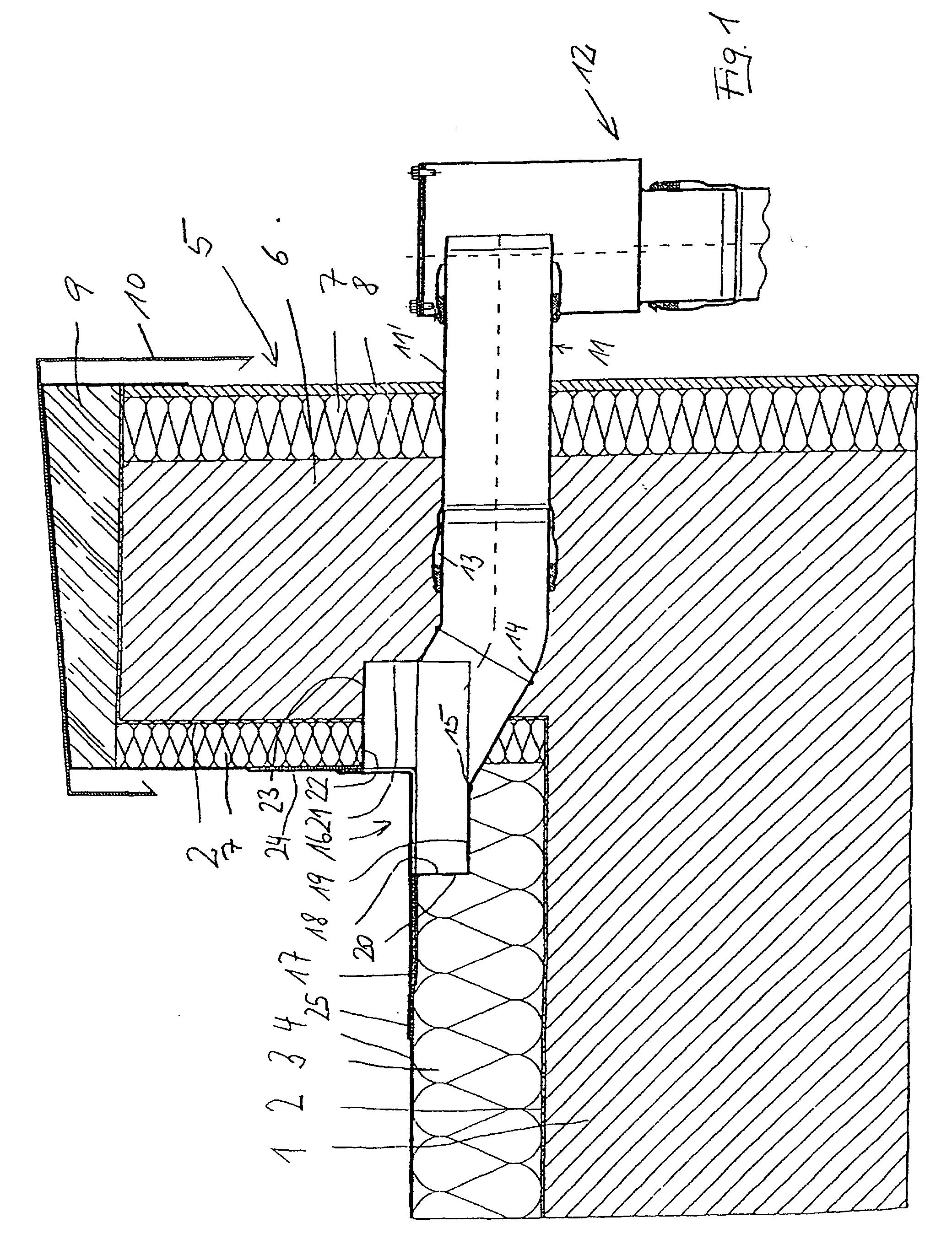 Fallrohr flachdach  Patent EP0940520B1 - Flachdach-Wasserablauf und Flachdach mit ...