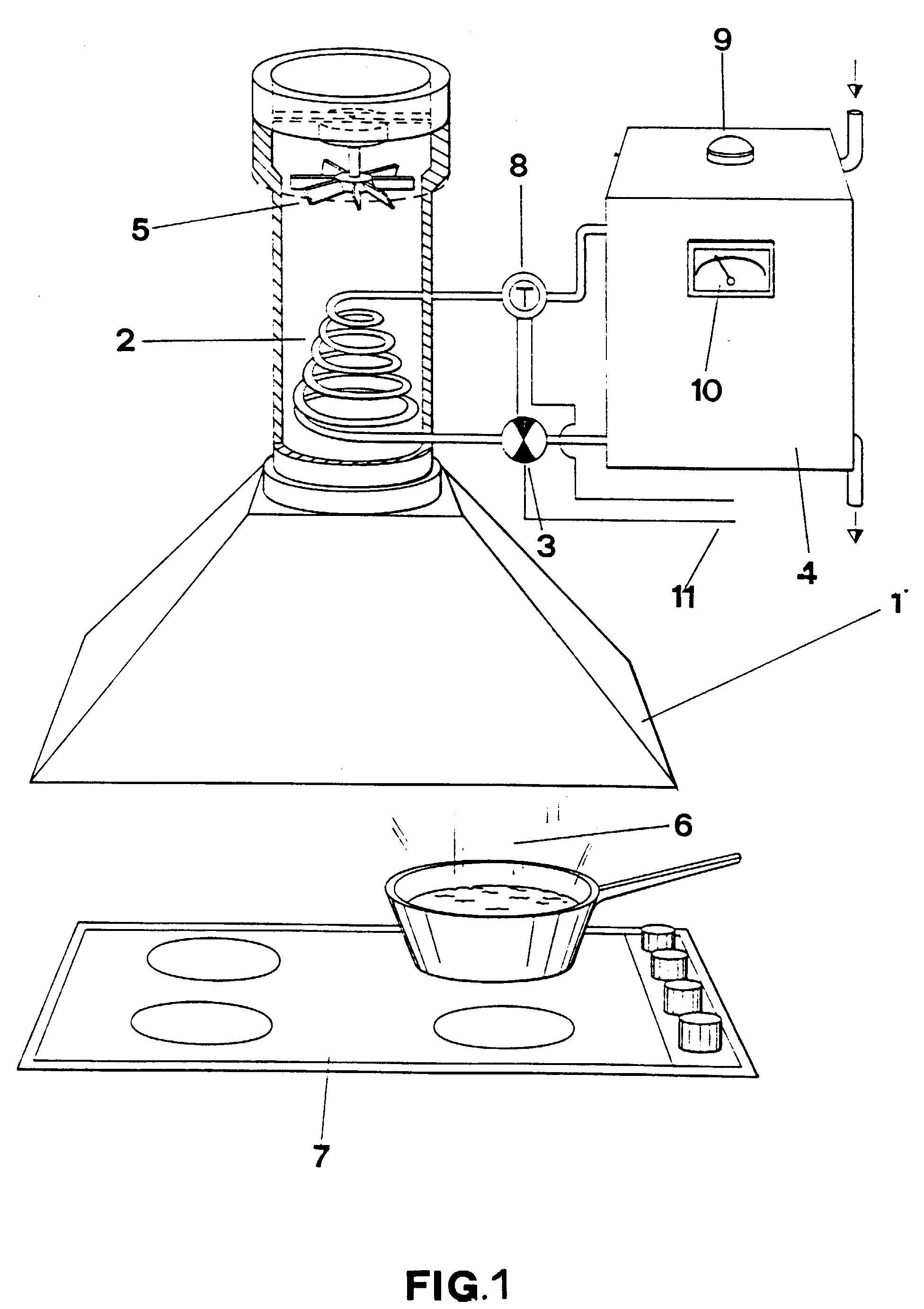 patent ep0945685a2 hotte d 39 aspiration pour la cuisine avec r cup ration de l 39 nergie thermique. Black Bedroom Furniture Sets. Home Design Ideas