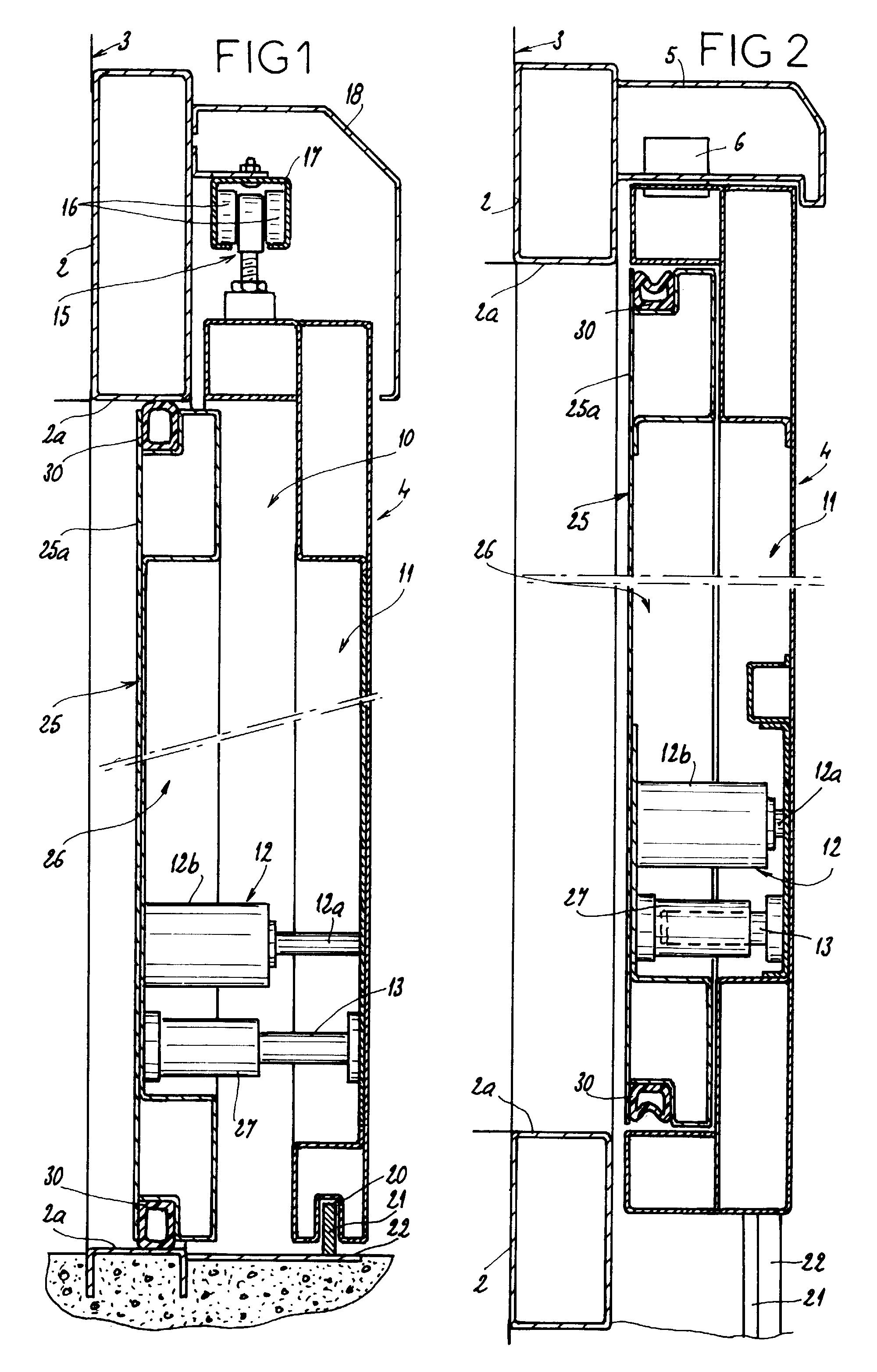 Patent ep0957228a1 ensemble formant une porte - Porte coulissante scrigno fiche technique ...