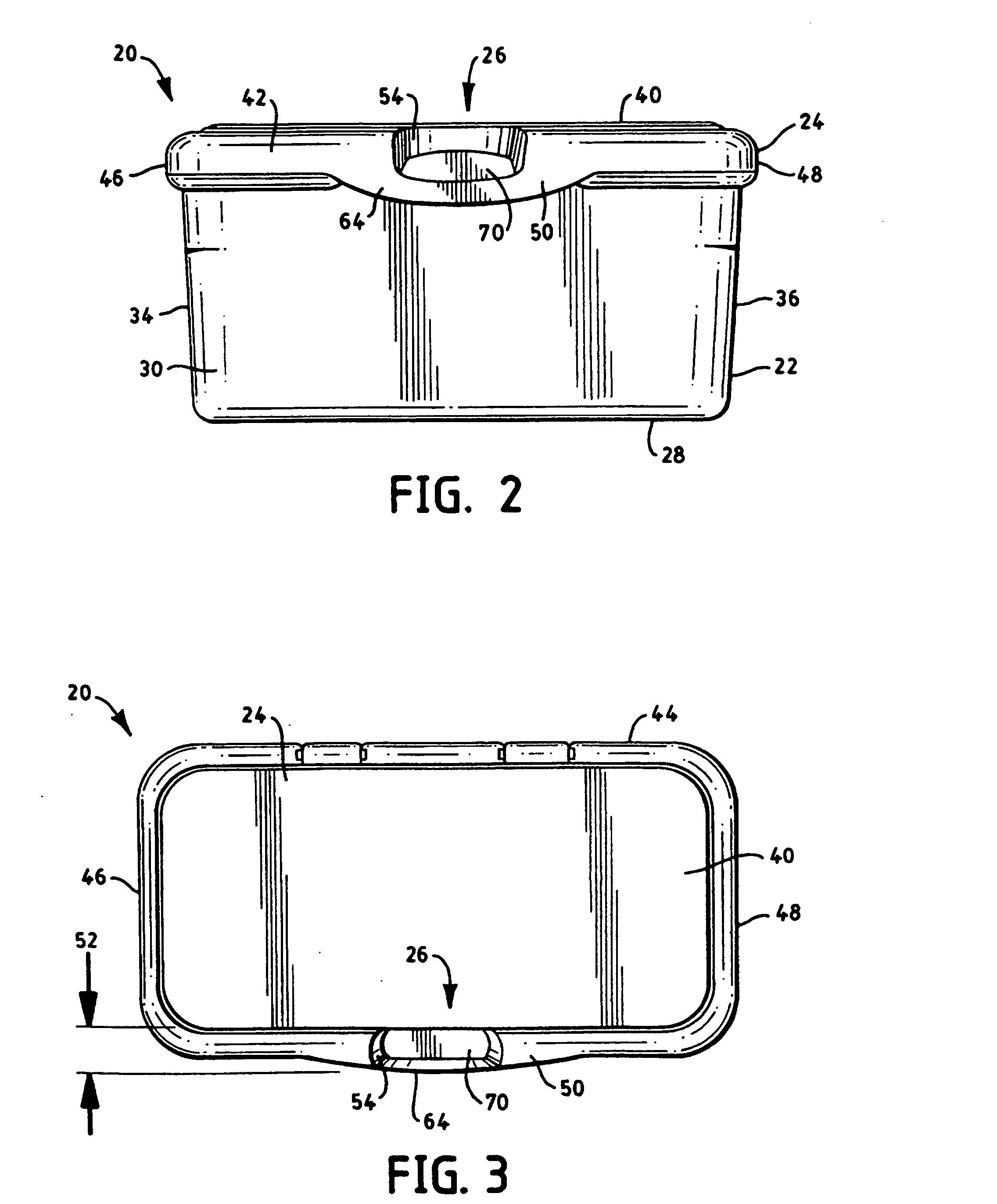patent ep0986502b1 beh lter f r feuchtt cher mit verbessertem verschlussmechanismus google. Black Bedroom Furniture Sets. Home Design Ideas