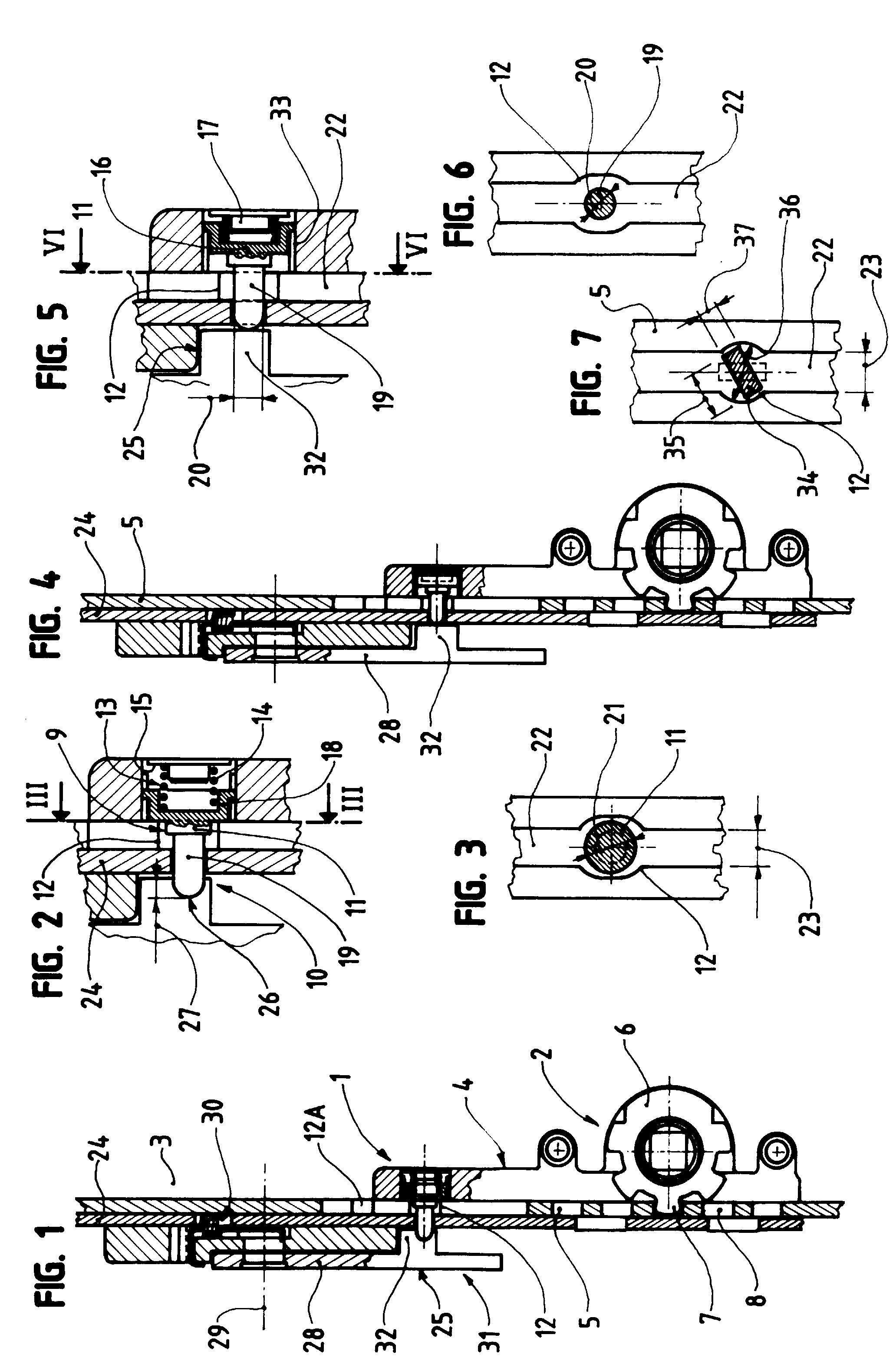 Patente ep1004735a1 device preventing incorrect for Cremones de fenetre translation