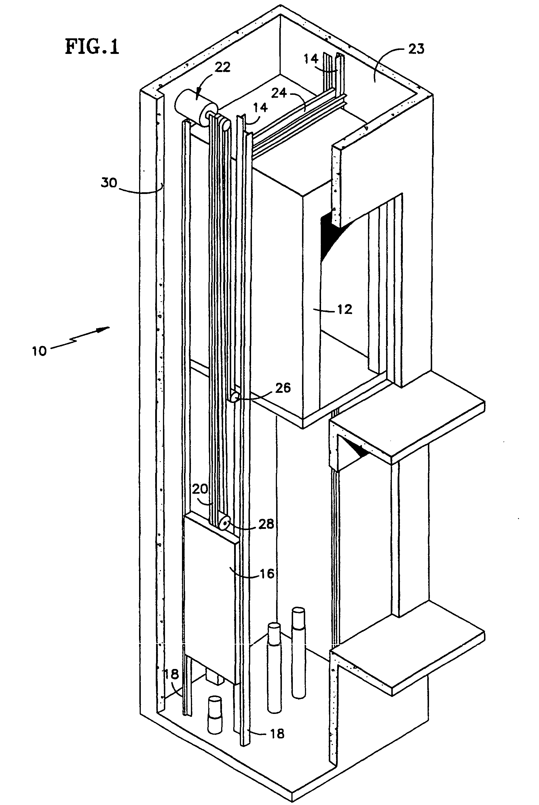Patent ep1023236b1 traction elevator system using a for Ascenseur maison