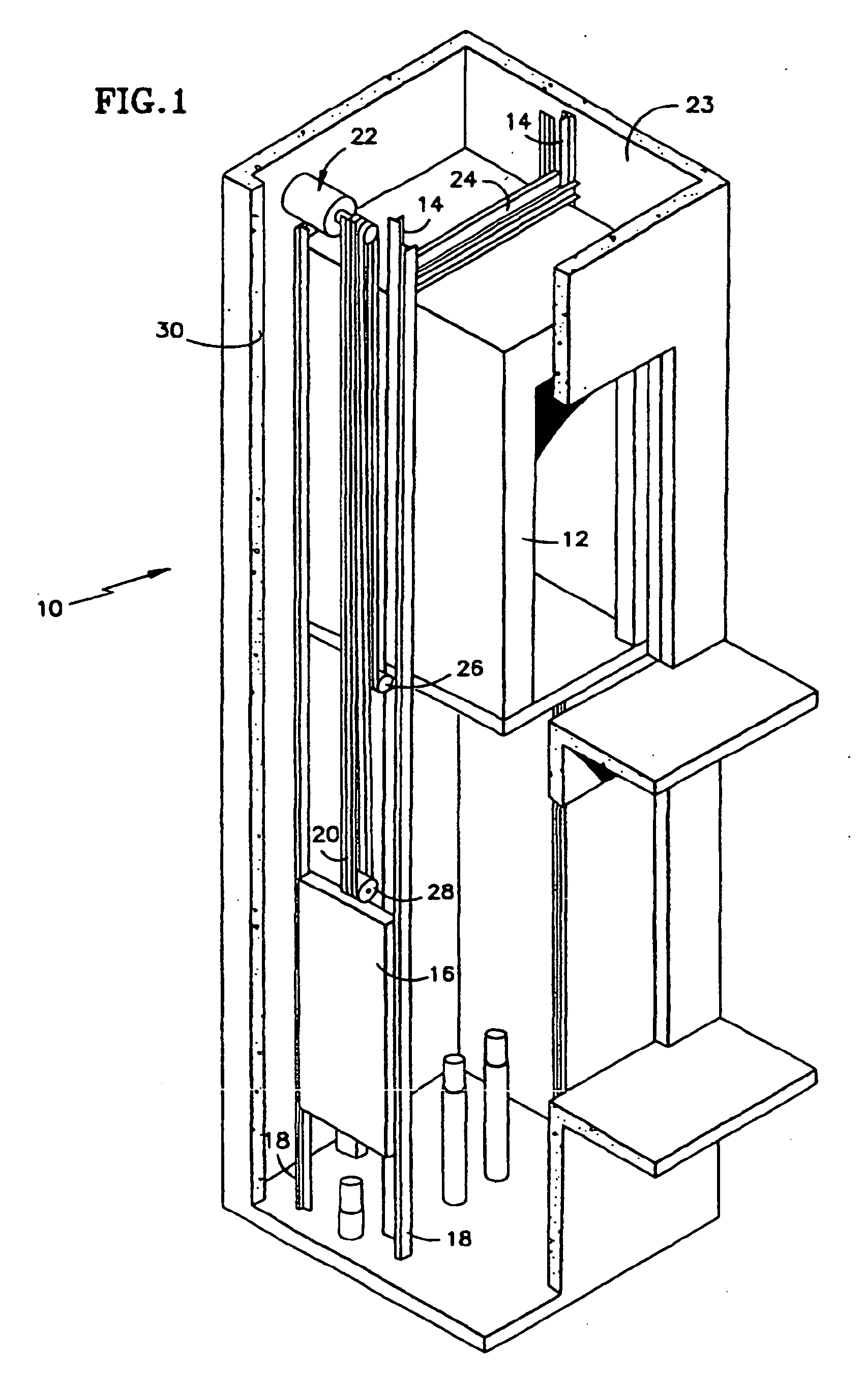 Patent ep1023236b2 traction elevator system using a for Elevator plan drawing