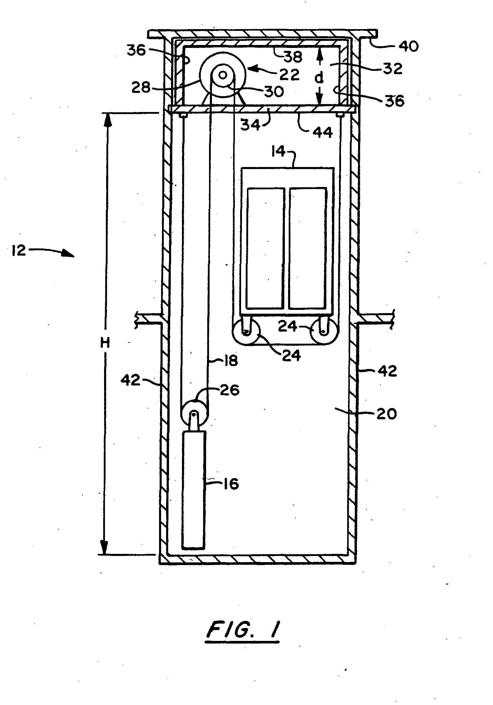 Patent EP1037847B1 - Elevator system with compact ...