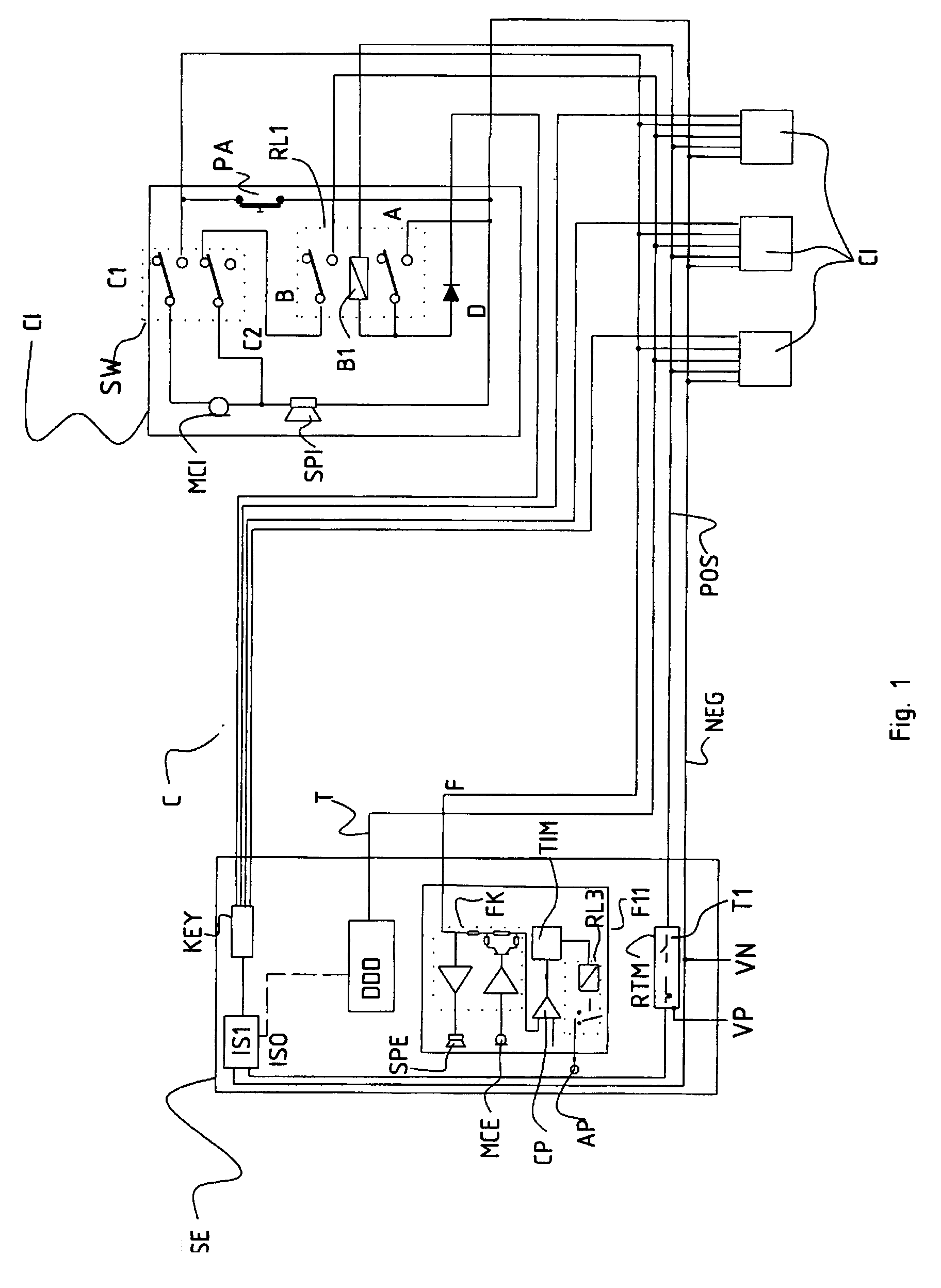00100001 patent ep1054555a2 intercom system google patents urmet intercom wiring  diagram at cita.asia