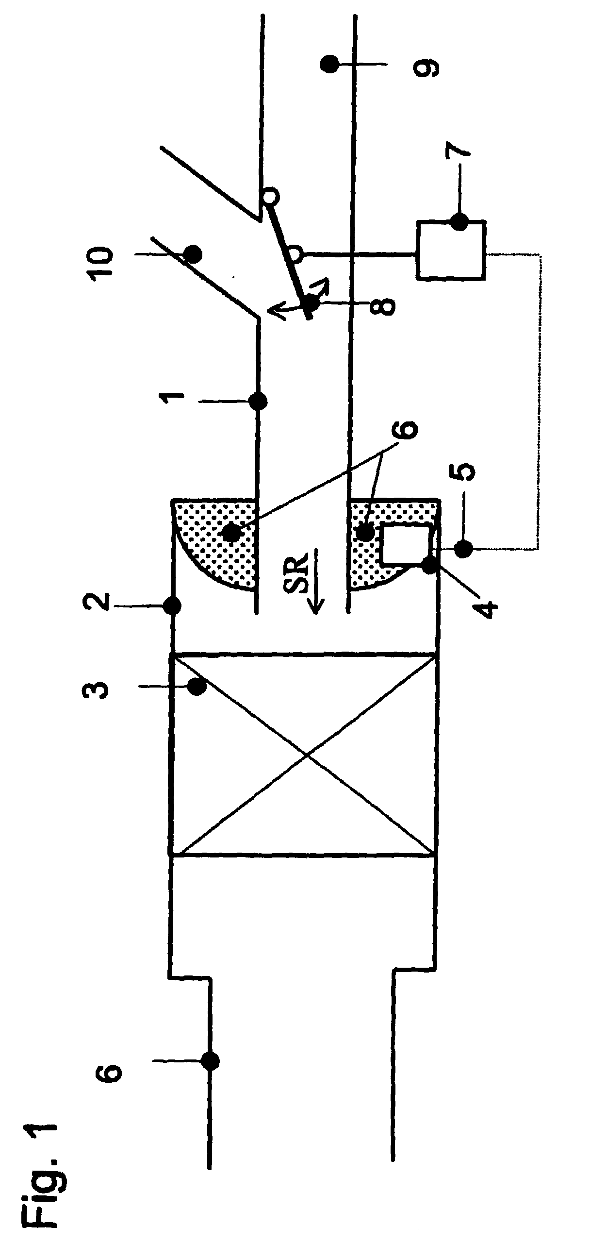 device for controlling the intake air temperature upstream of