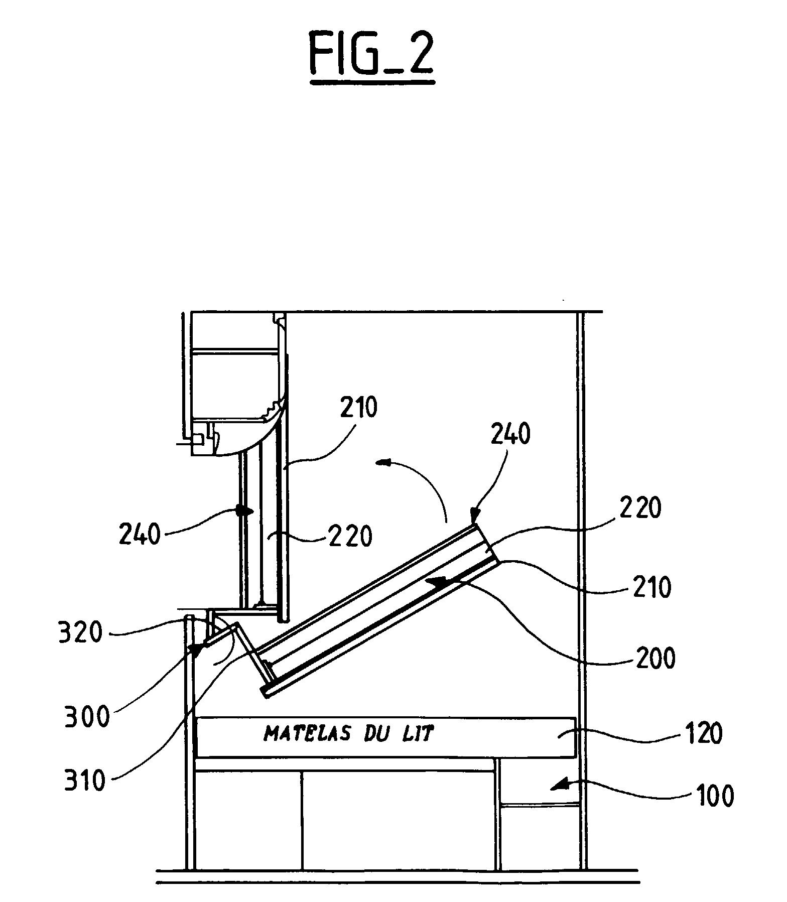 Patent ep1070630a2 banquette lit pour caravanes structure pivotante goo - Quelle epaisseur pour un matelas ...