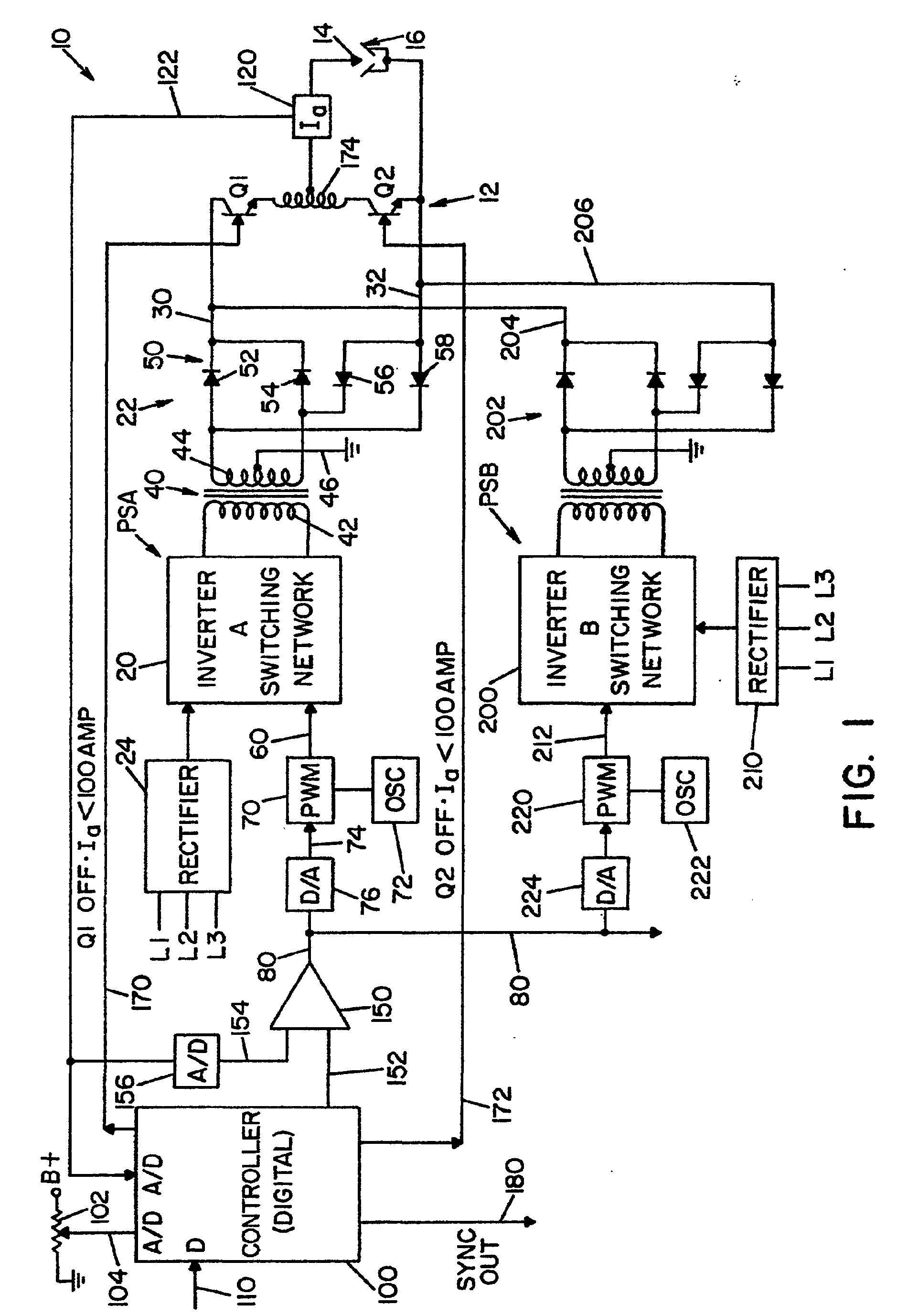 patent ep1086773b1 - electric arc welder with a plurality of power supplies